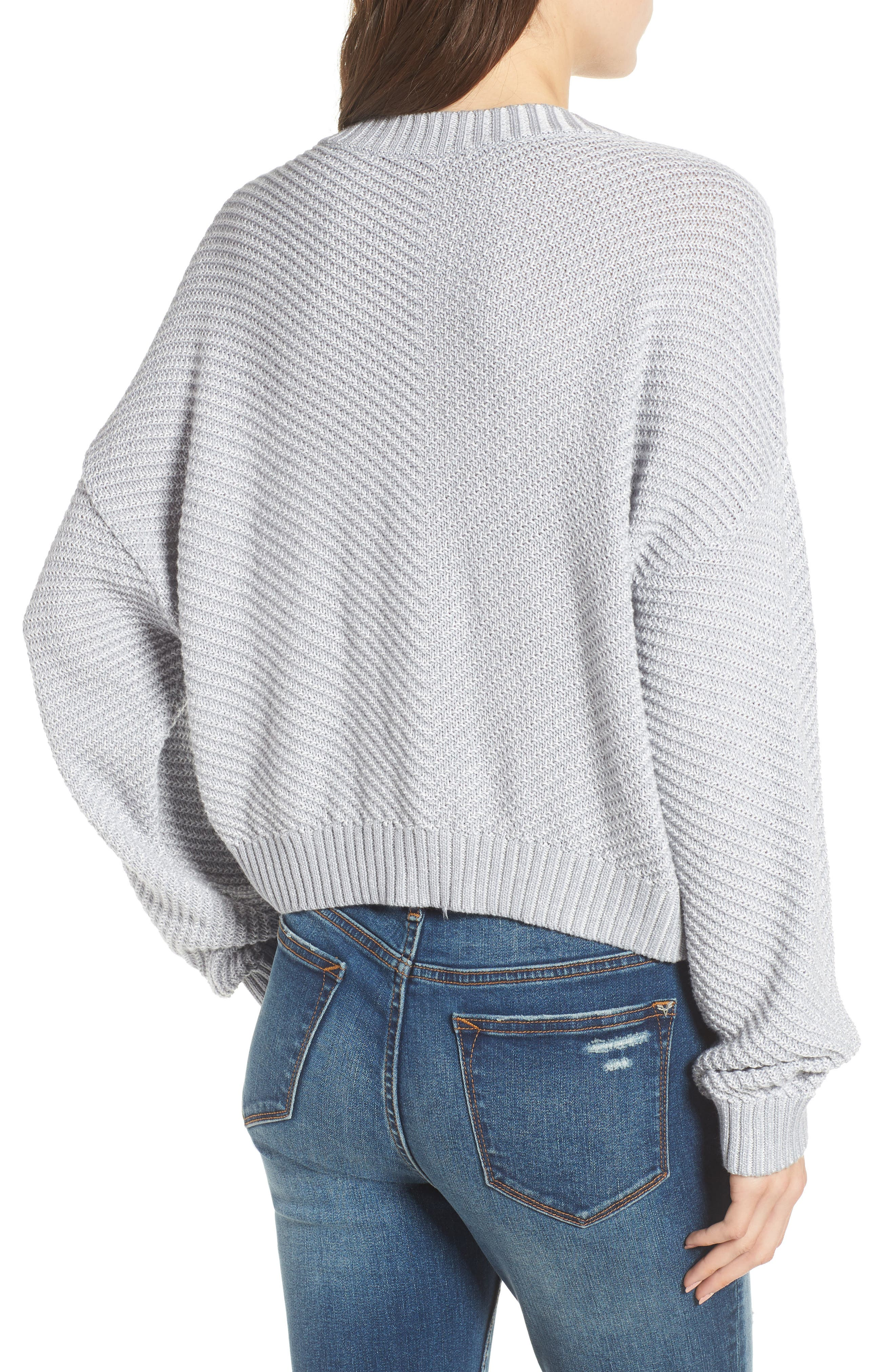 Plaited Drop Shoulder Sweater,                             Alternate thumbnail 3, color,