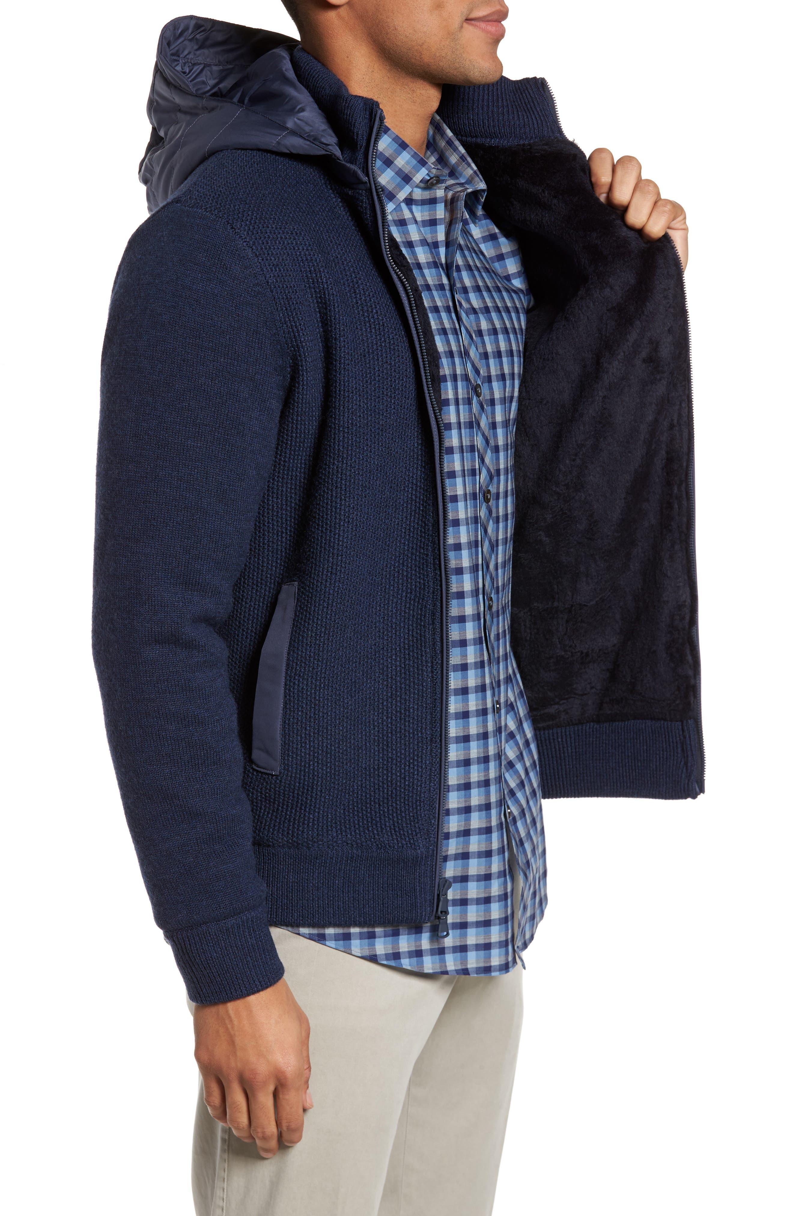 Haydon Merino Wool Sweater Jacket,                             Alternate thumbnail 3, color,                             410