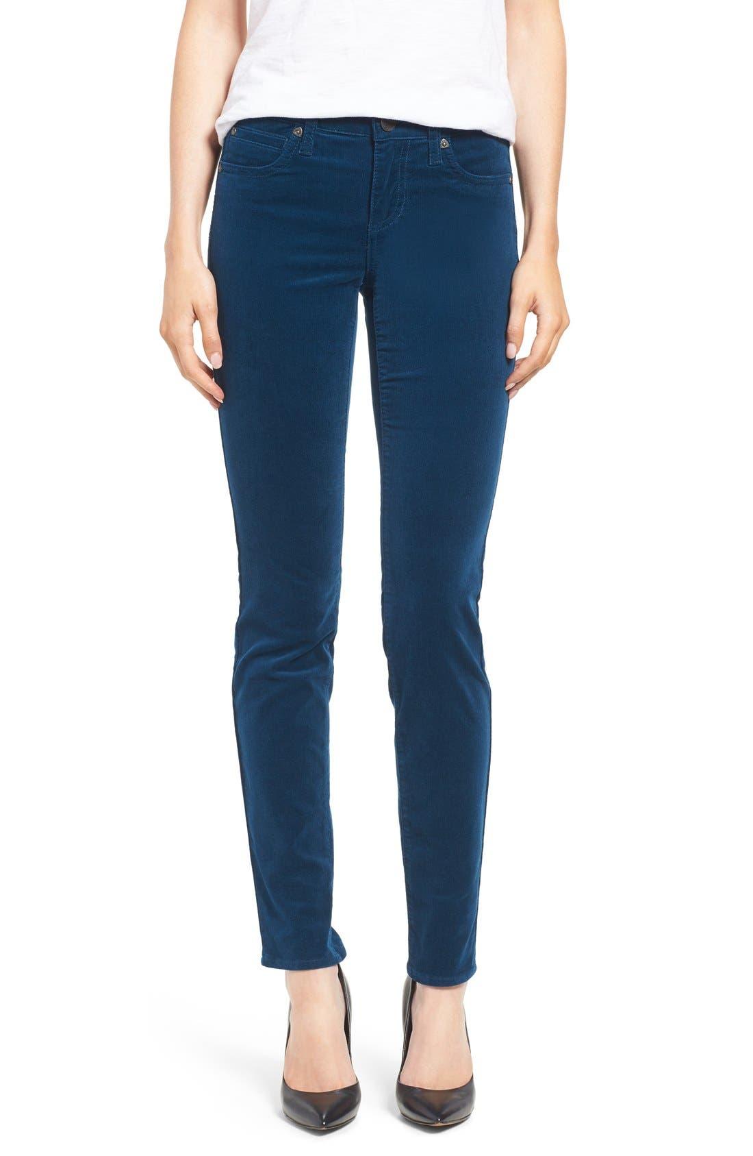 'Diana' Stretch Corduroy Skinny Pants,                             Alternate thumbnail 184, color,
