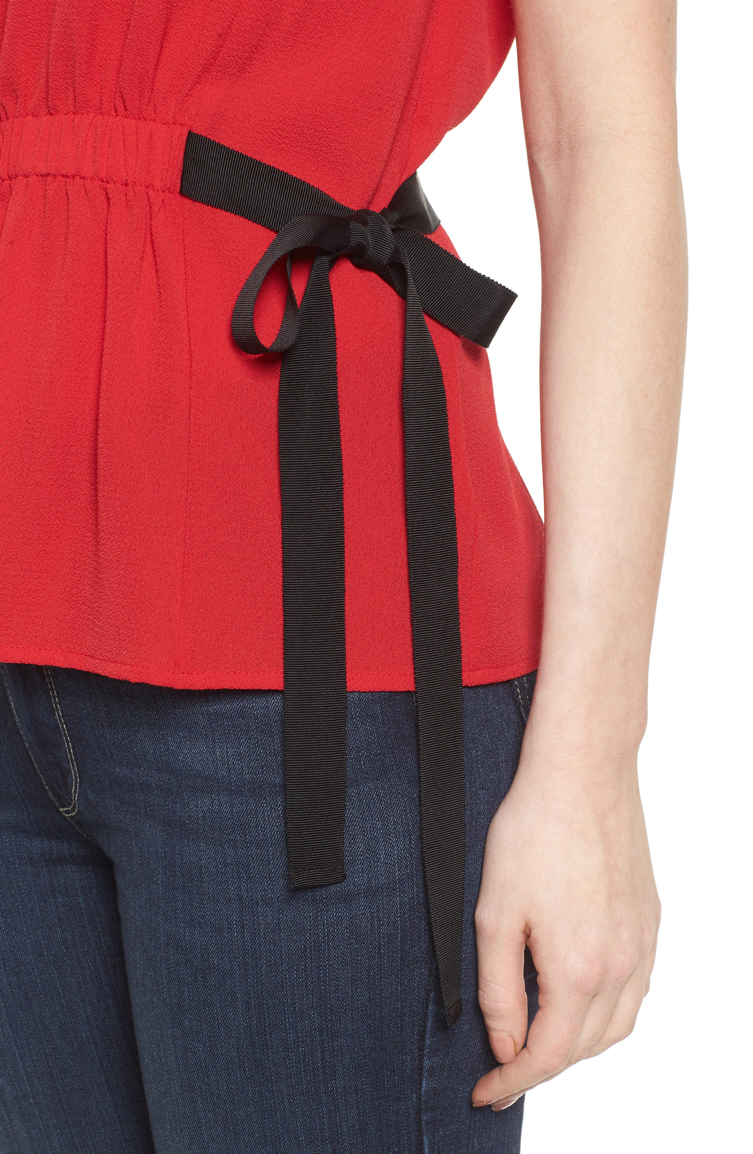 Gathered Waist Side Tie Top,                             Alternate thumbnail 24, color,
