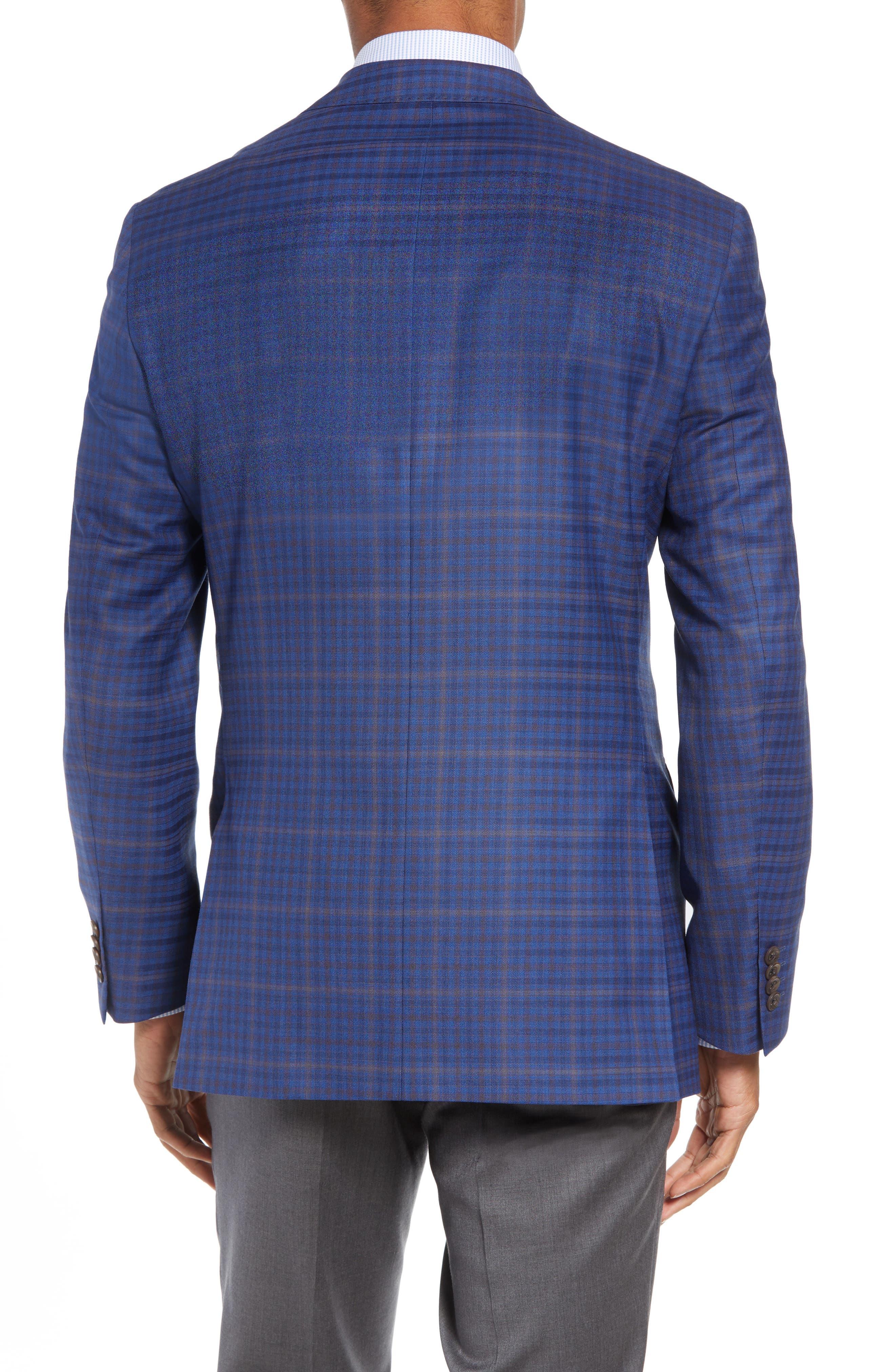 DAVID DONAHUE,                             Connor Classic Fit Plaid Wool Sport Coat,                             Alternate thumbnail 2, color,                             400