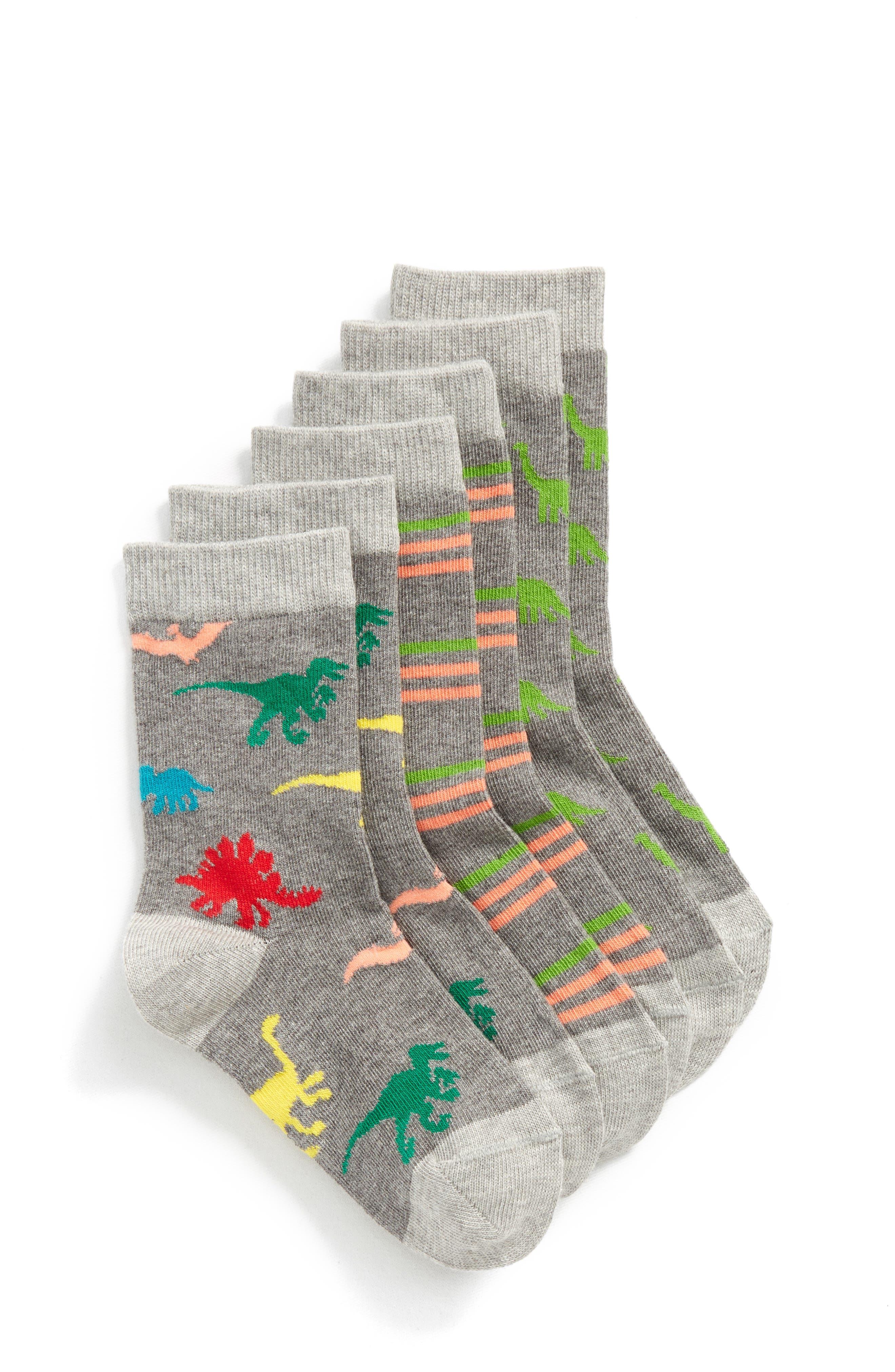 3-Pack Critter Crew Socks,                         Main,                         color, 098