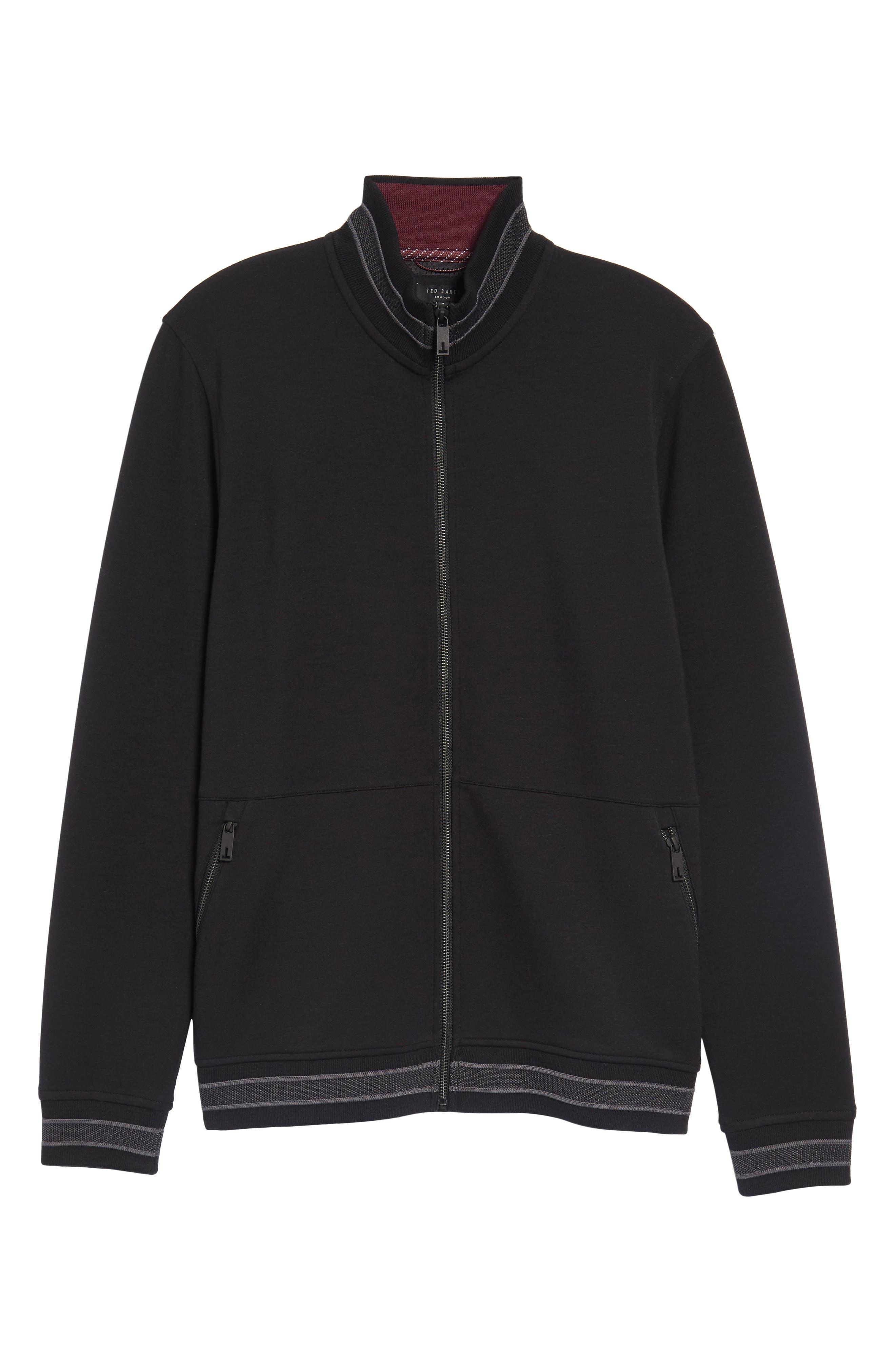 Collie Jersey Zip Jacket,                             Alternate thumbnail 6, color,                             001