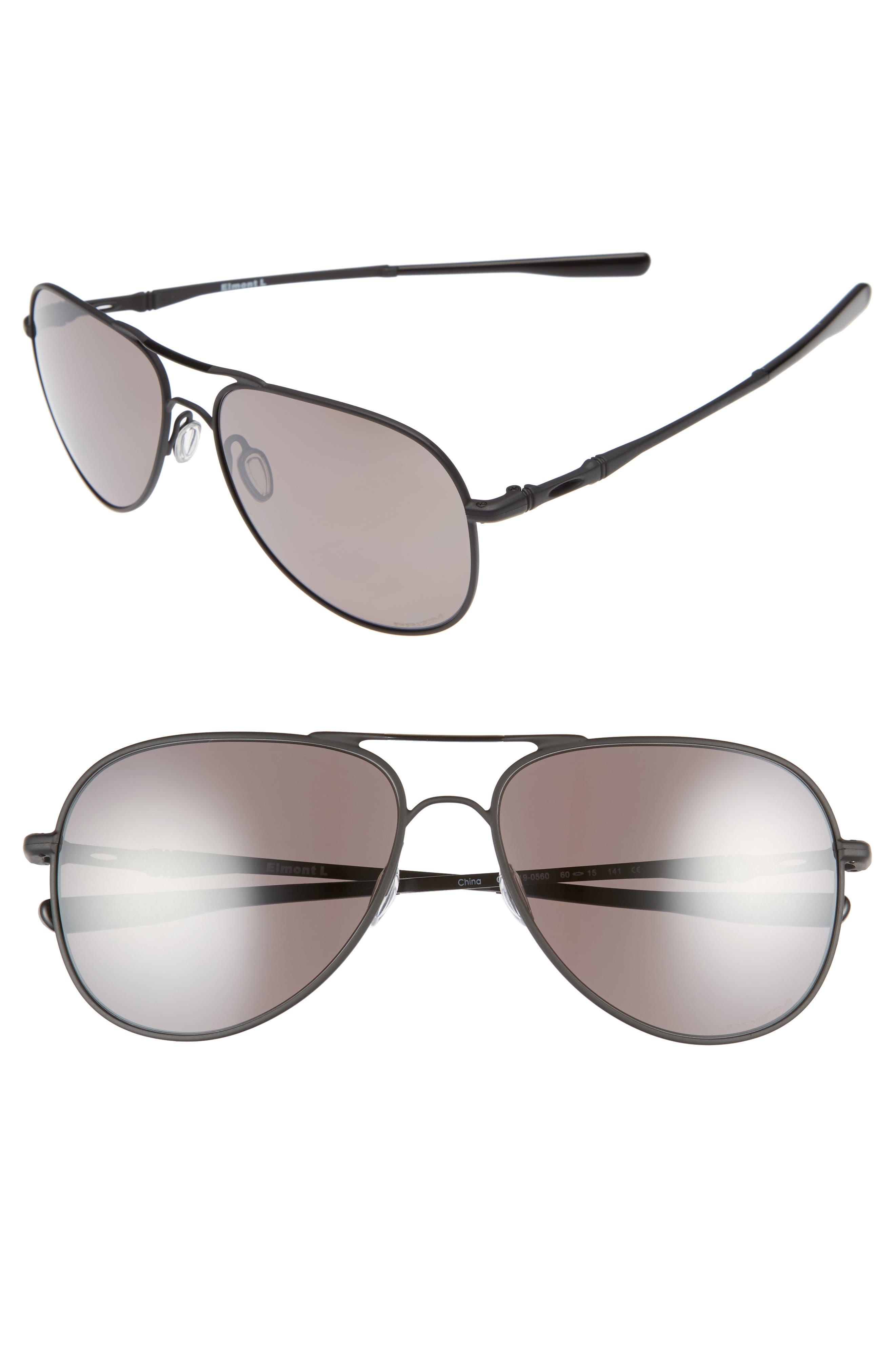 Elmont 60mm Polarized Aviator Sunglasses,                             Main thumbnail 1, color,                             001