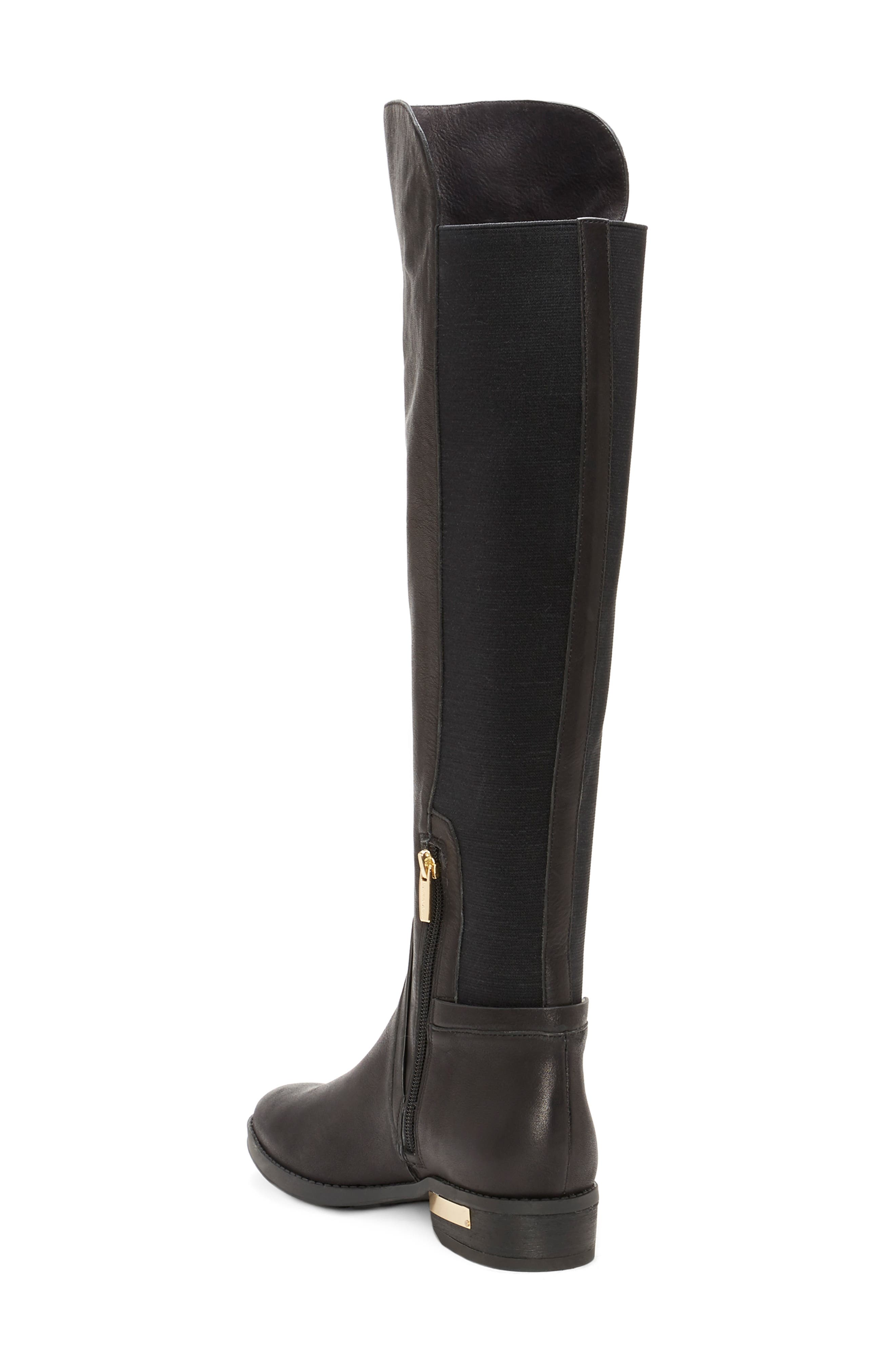 Pardonal Over-the-Knee Boot,                             Alternate thumbnail 2, color,                             BLACK LEATHER