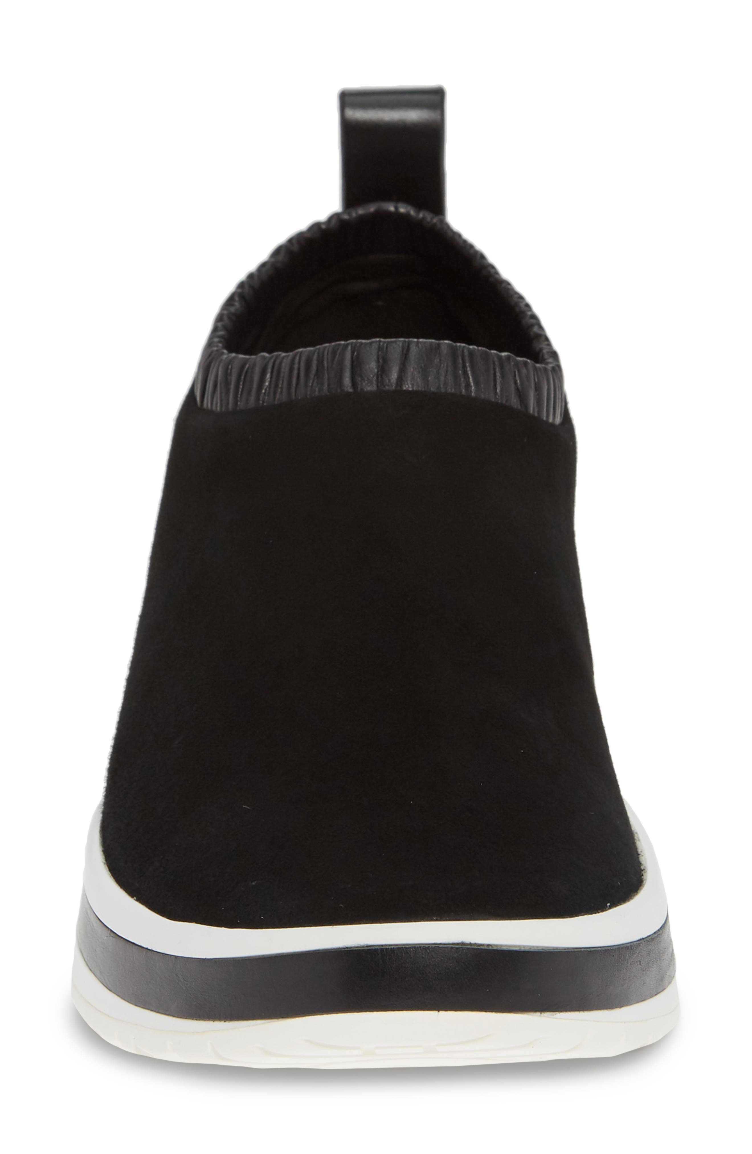 612 Sneaker,                             Alternate thumbnail 4, color,                             BLACK SUEDE