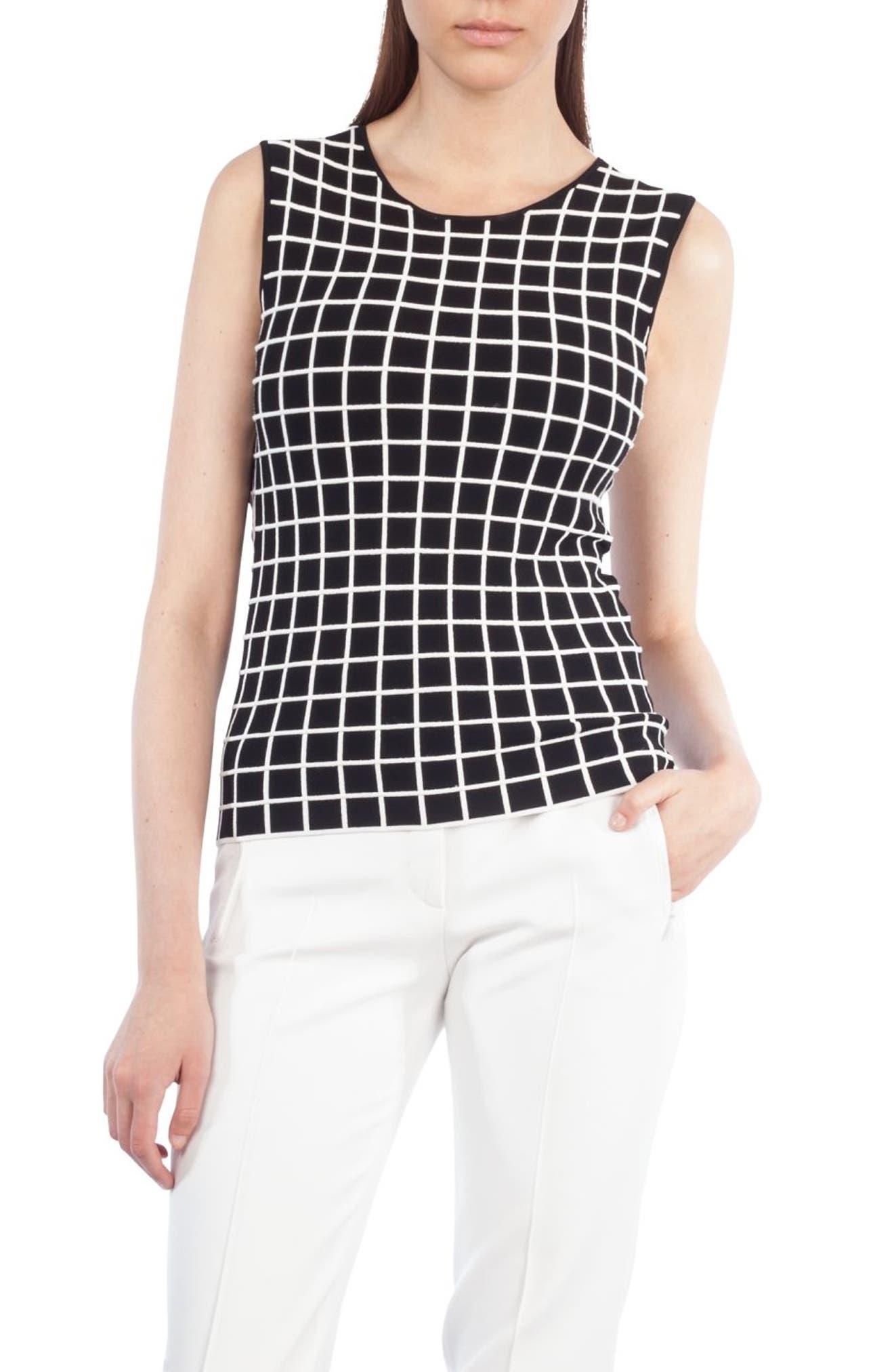 Grid Knit Top,                             Main thumbnail 1, color,                             960