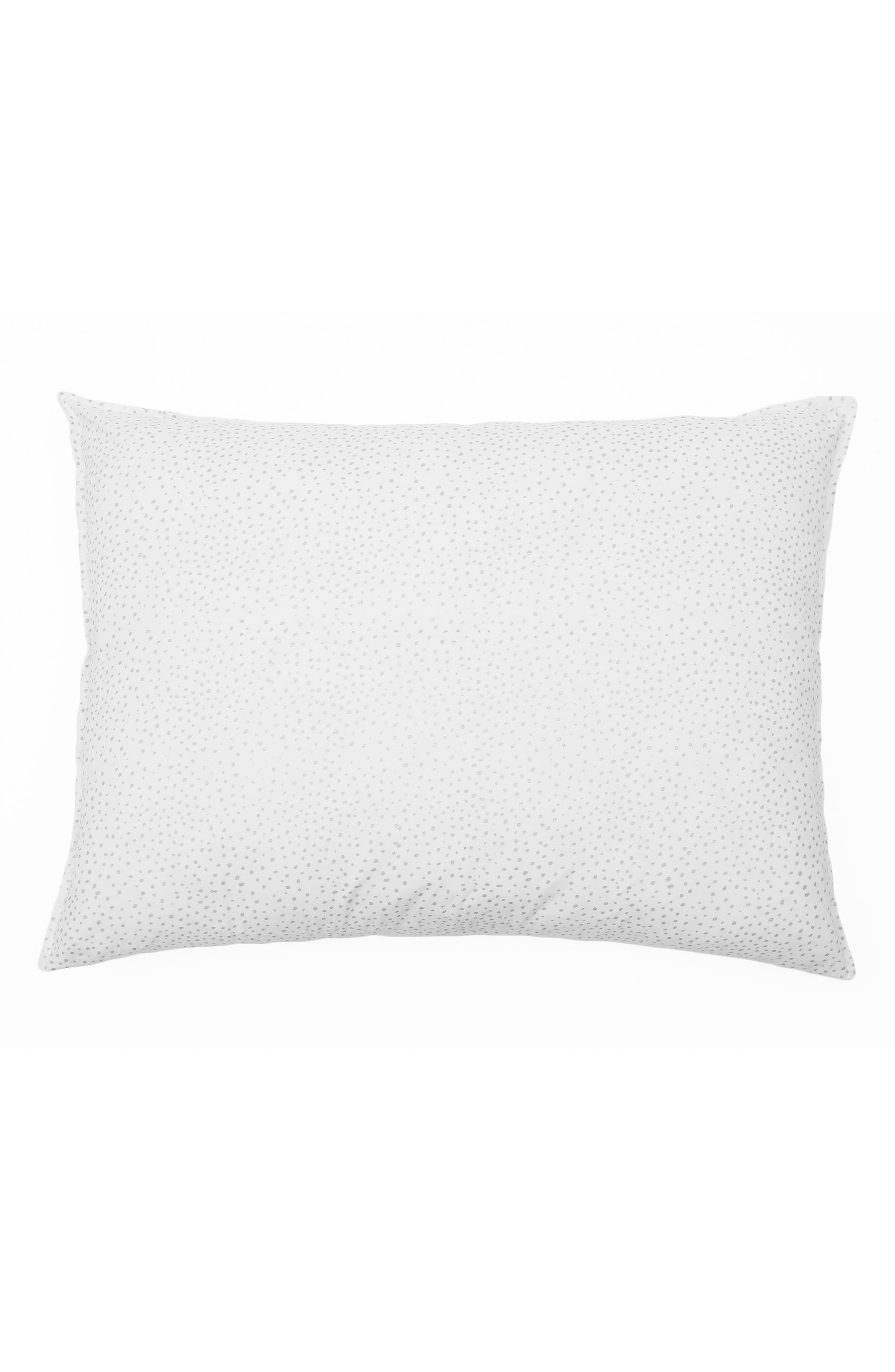 Dot Big Accent Pillow,                         Main,                         color, SILVER