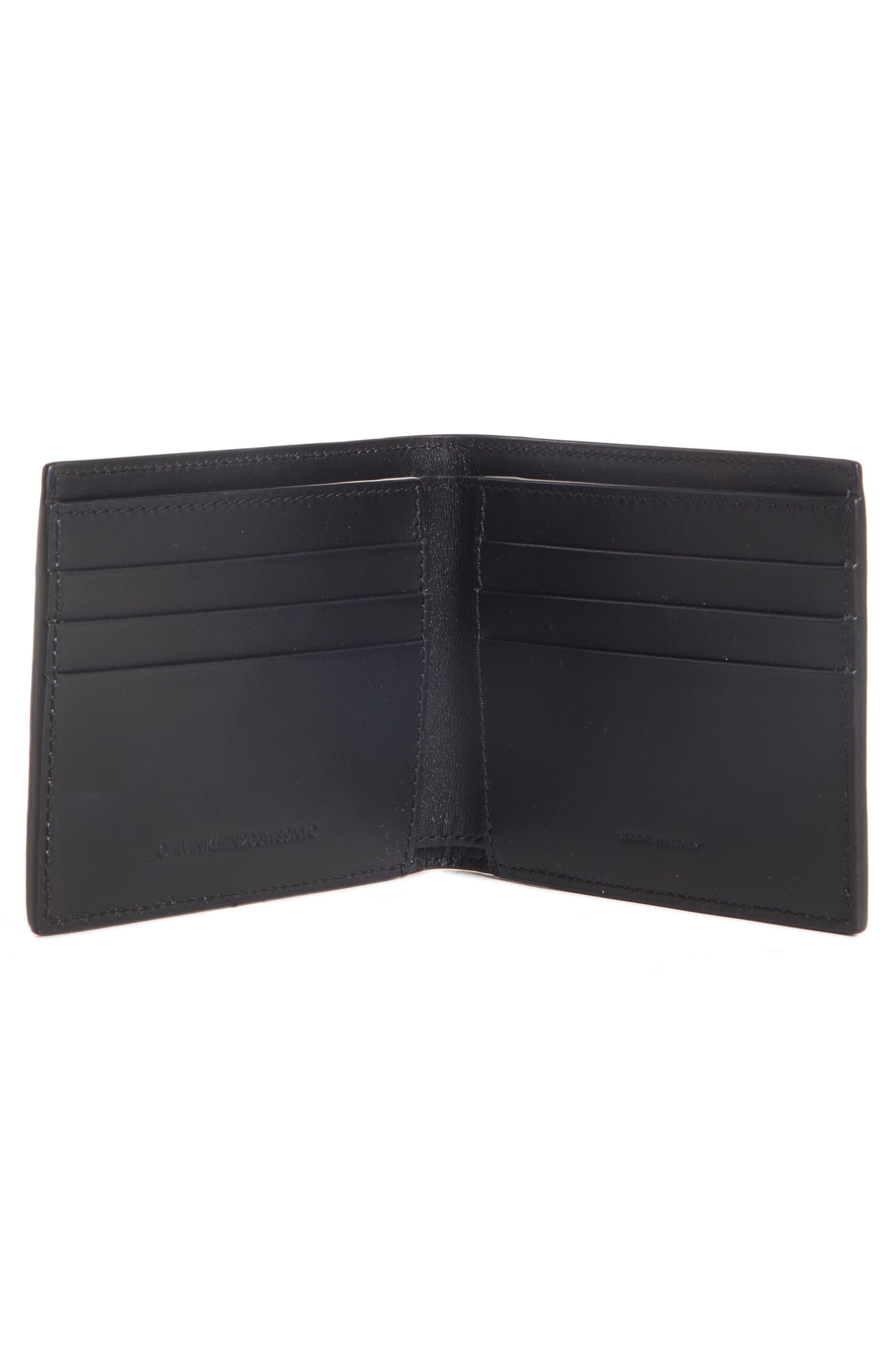 Leather Wallet,                             Alternate thumbnail 2, color,                             BLACK