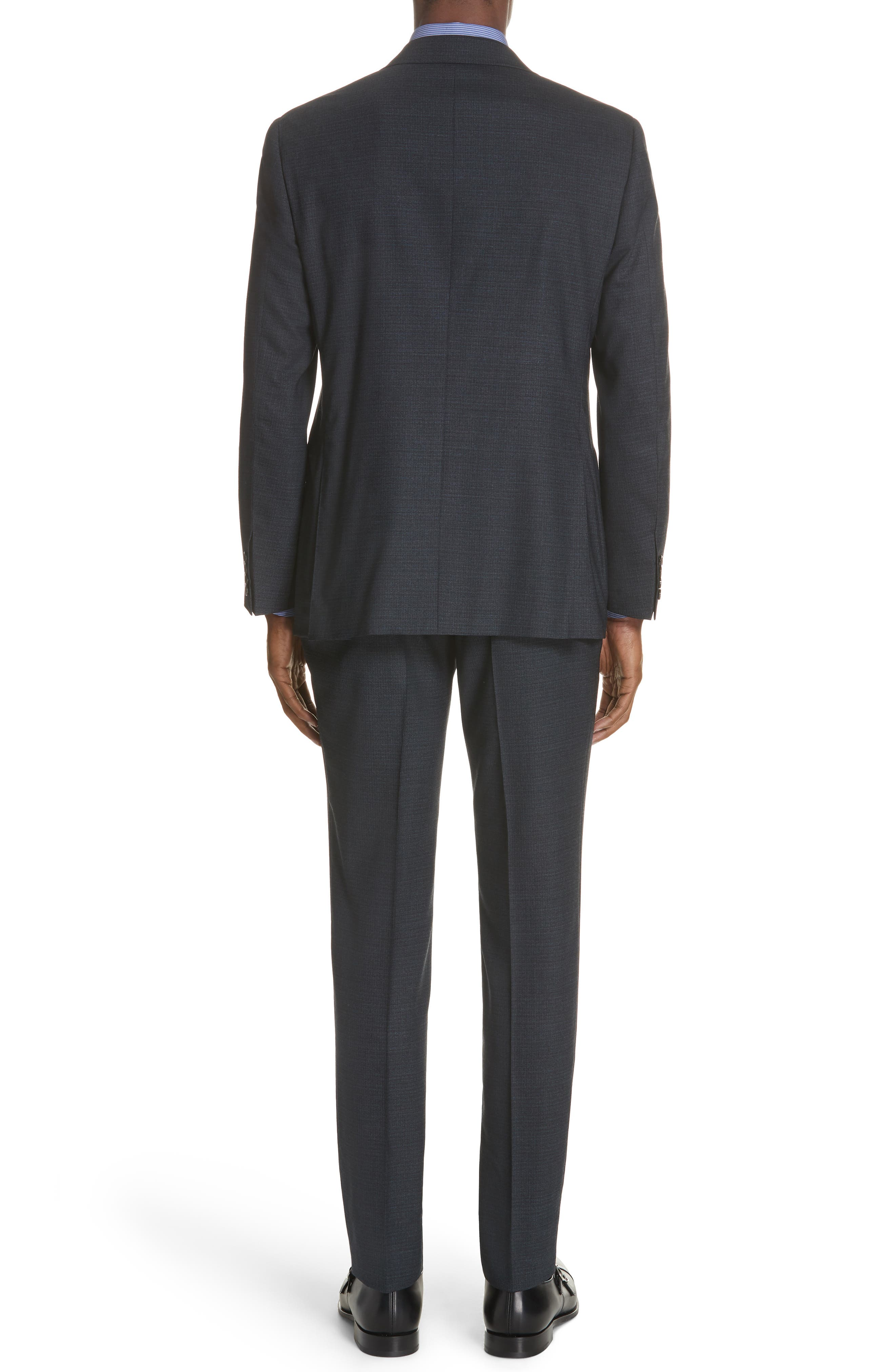CANALI,                             Classic Fit Stretch Check Wool Suit,                             Alternate thumbnail 2, color,                             400