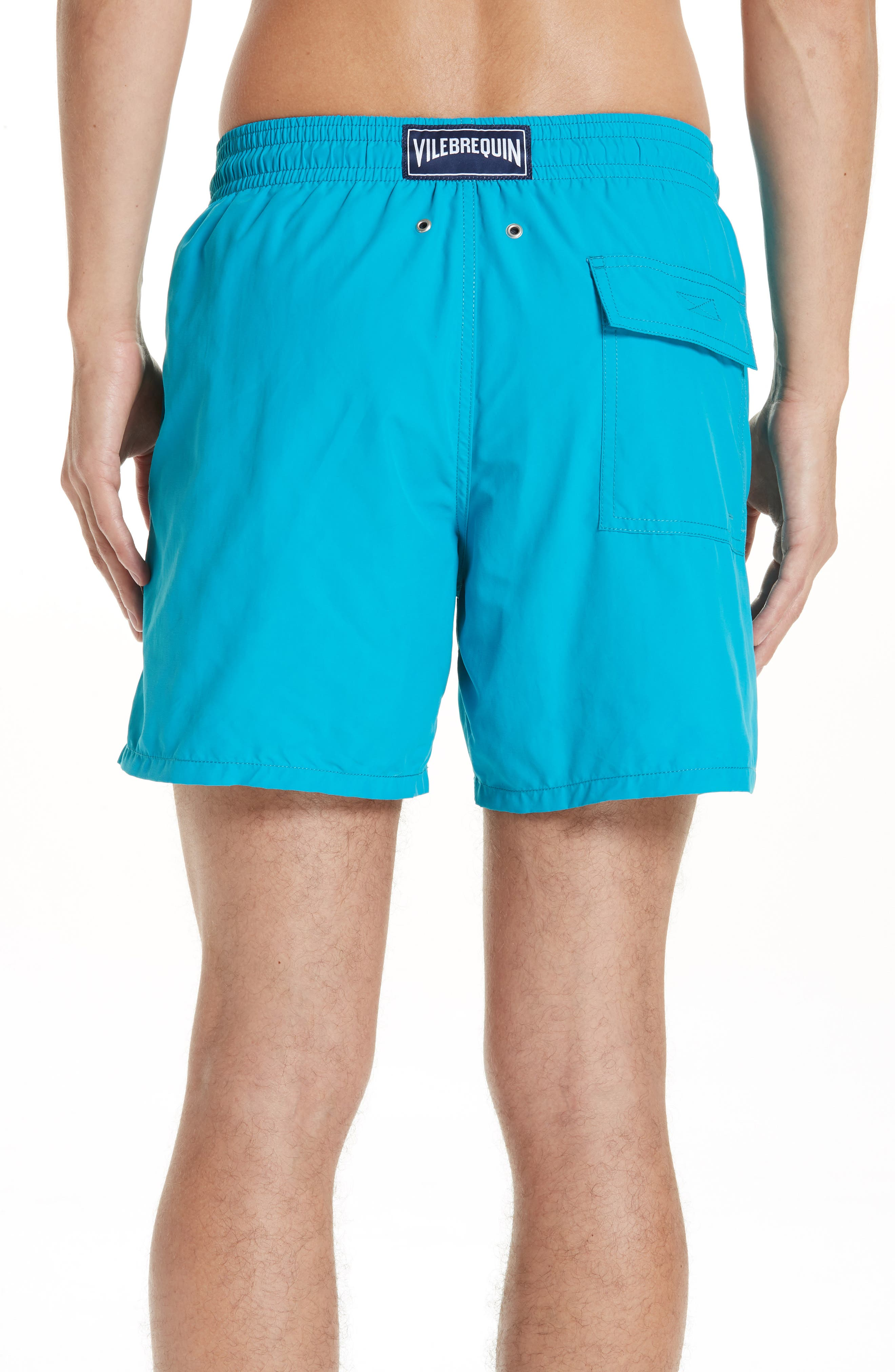Moorea Double Focus Water-Reactive Swim Trunks,                             Alternate thumbnail 2, color,                             BLUE