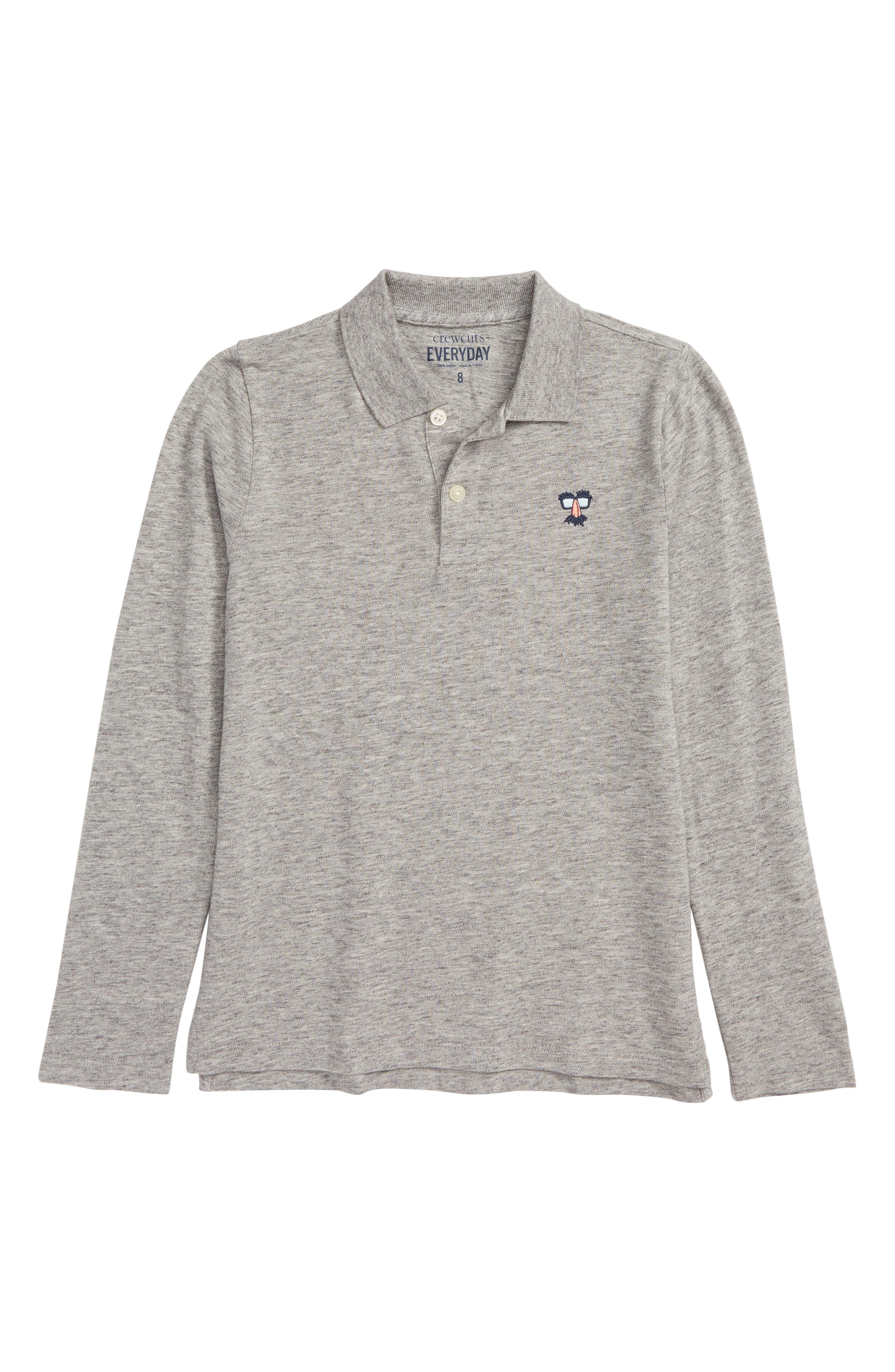Critter Long Sleeve Polo,                         Main,                         color, 020