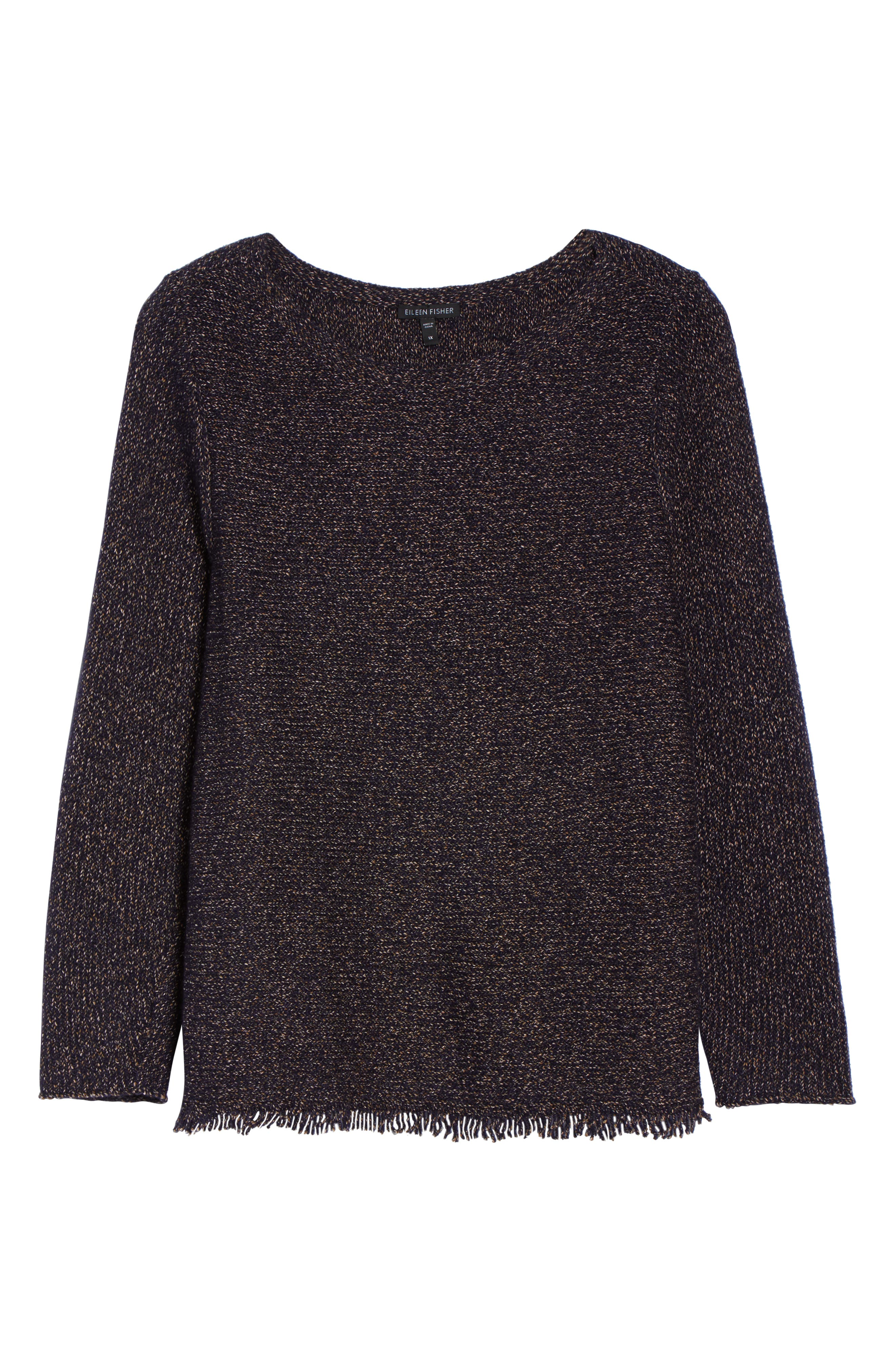 Fringe Hem Sweater,                             Alternate thumbnail 6, color,                             419