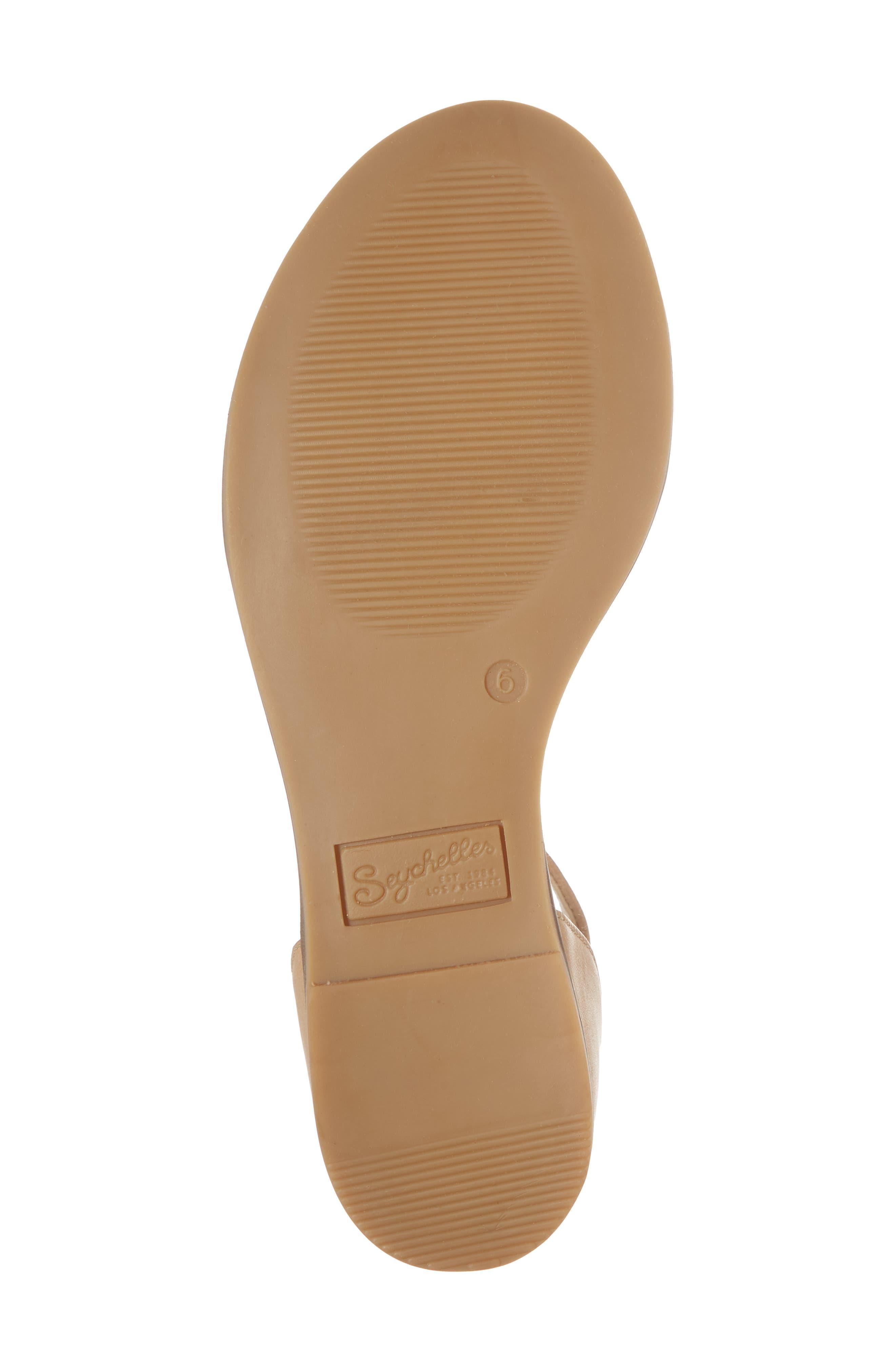 Ankle Strap Sandal,                             Alternate thumbnail 6, color,                             VACCHETTA LEATHER