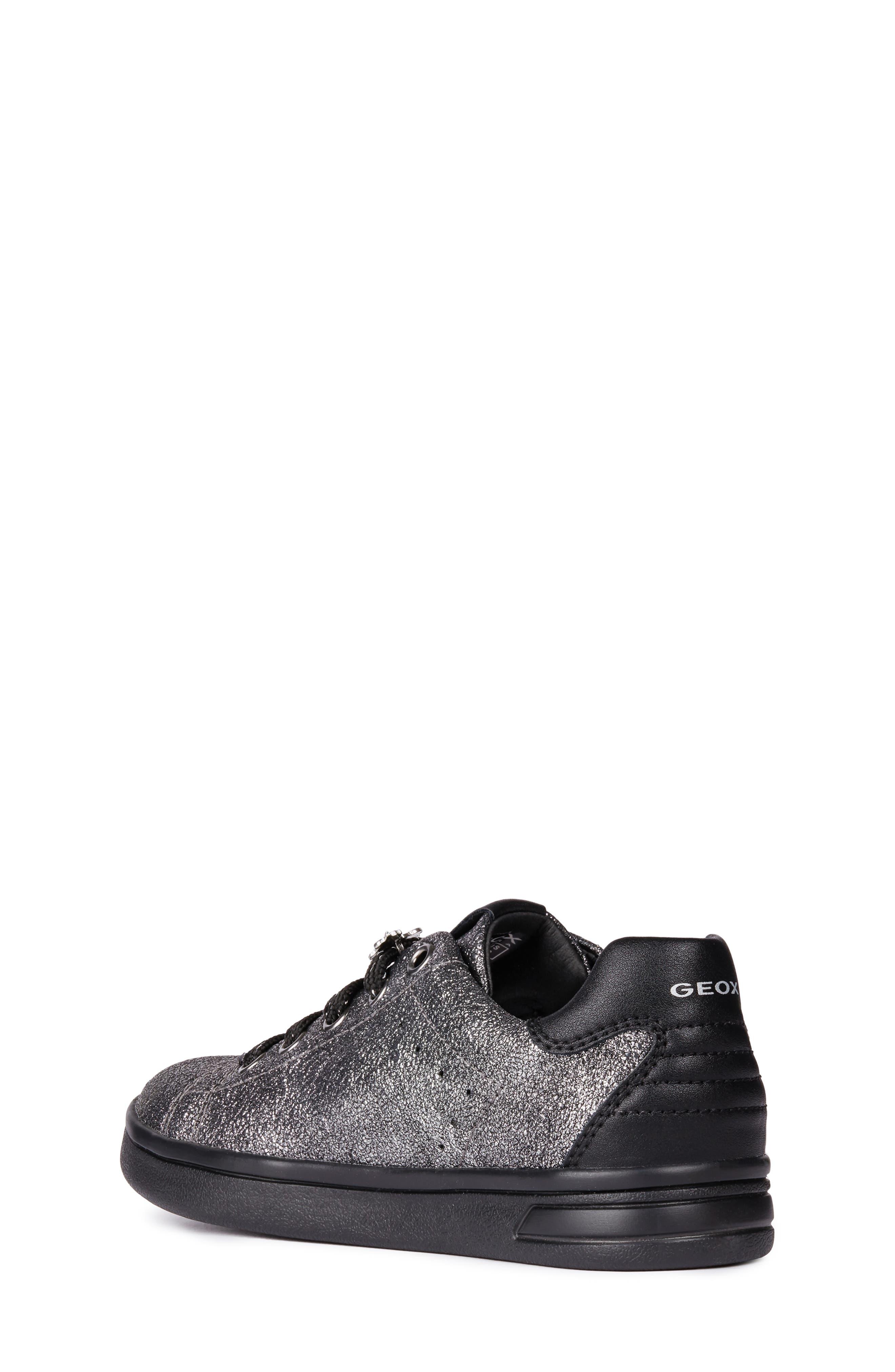 DJ Rock Metallic Sneaker,                             Alternate thumbnail 2, color,                             DARK SILVER