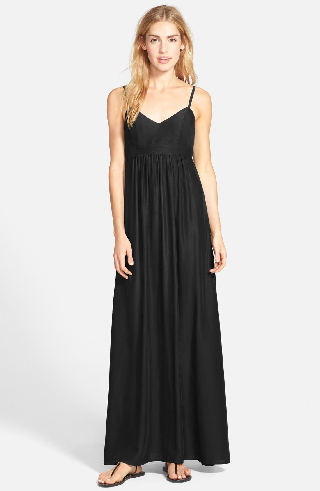 Colby Woven Maxi Dress,                             Main thumbnail 1, color,                             001
