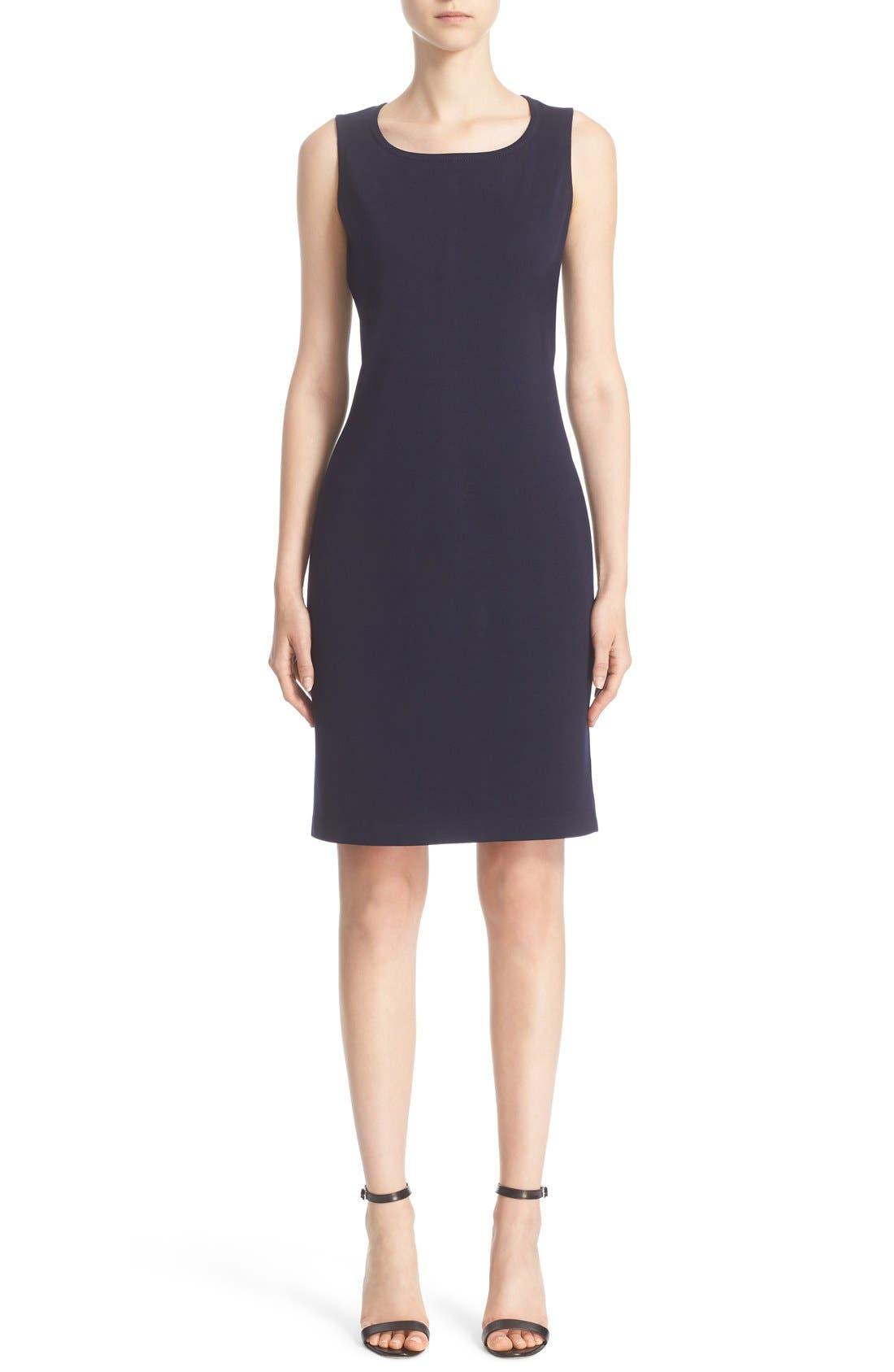 St. John Collection Milano Knit Sheath Dress, Blue