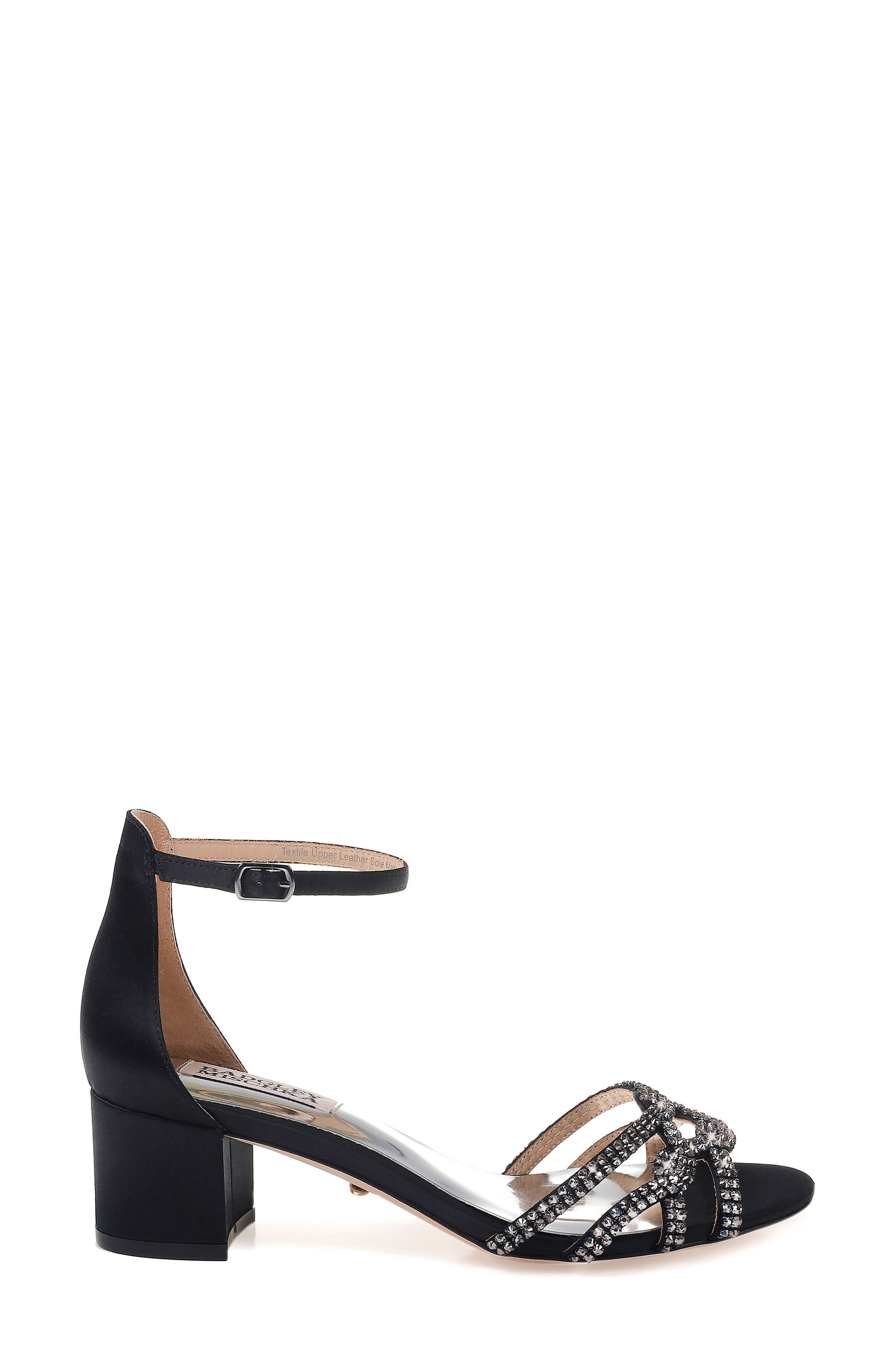 Badgley Mischka Sonya Block Heel Sandal,                             Alternate thumbnail 3, color,                             015