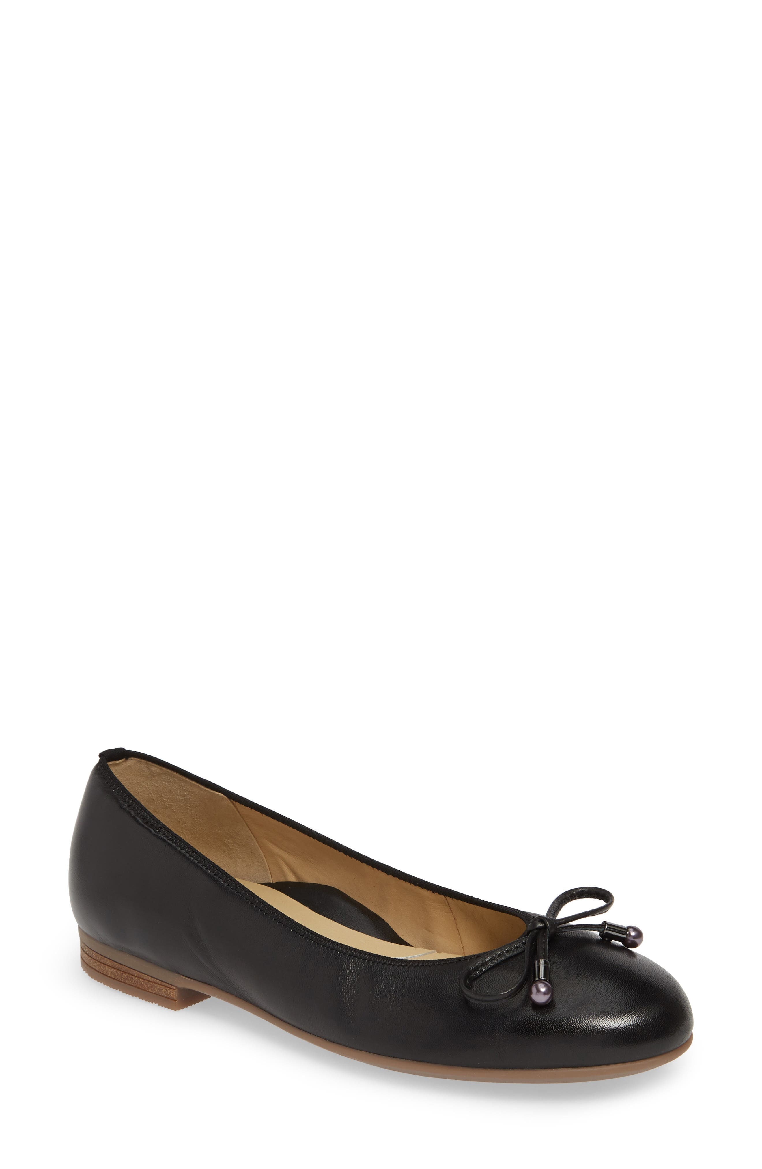 ARA Scout Flat, Main, color, BLACK NAPPA LEATHER