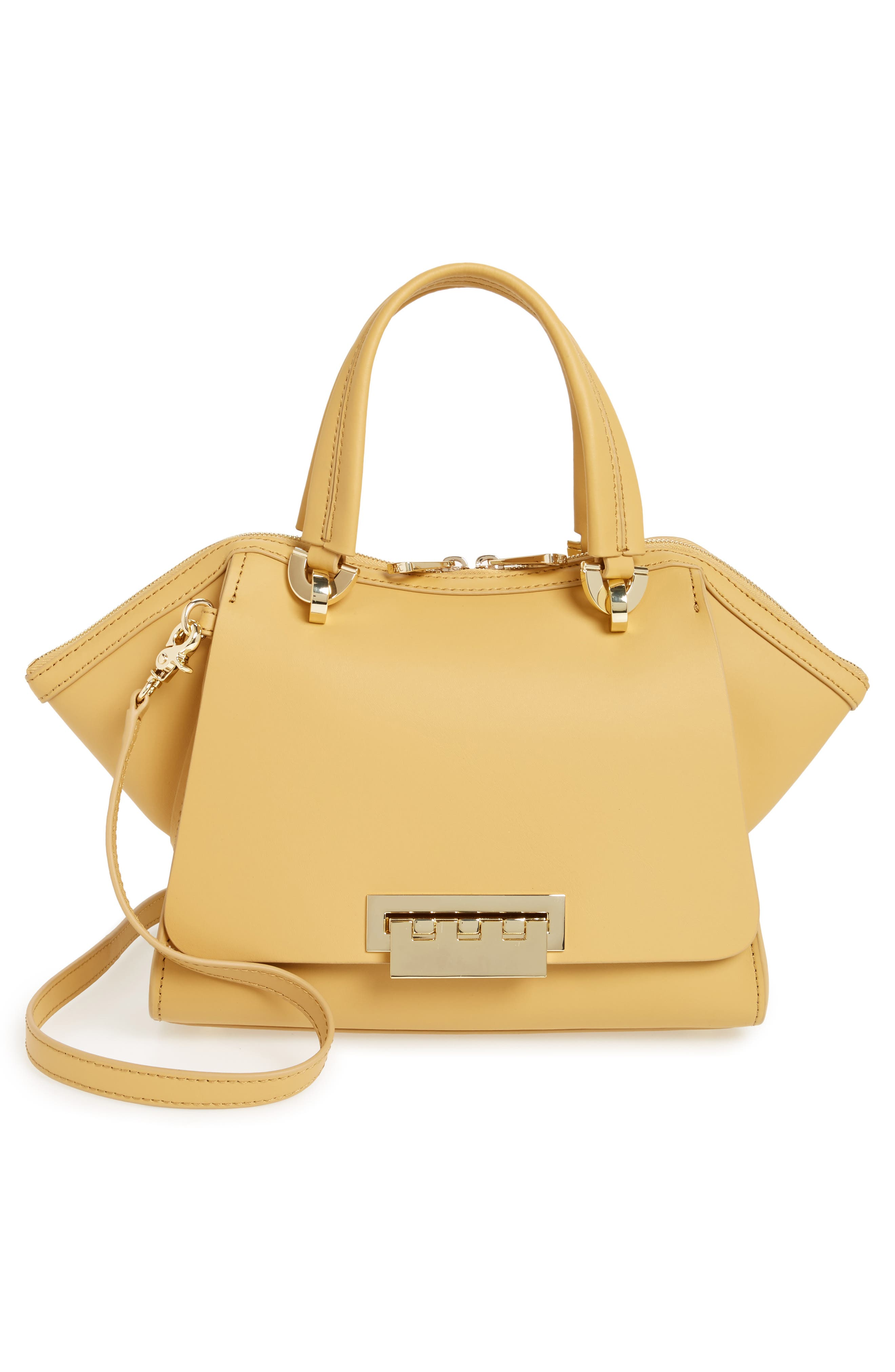 Eartha Iconic Calfskin Leather Double Handle Satchel,                             Alternate thumbnail 6, color,