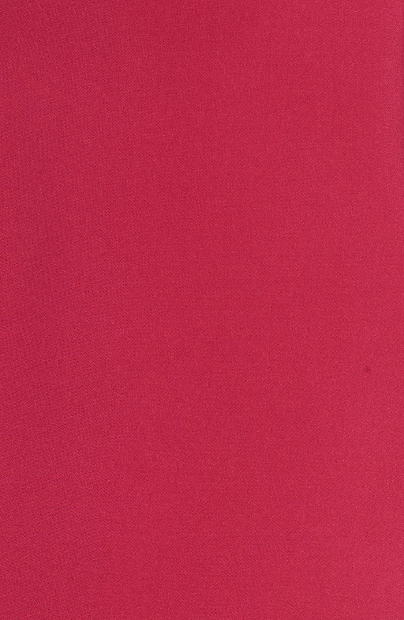 'Sundae'Stretch Minidress,                             Alternate thumbnail 6, color,                             BRIGHT BAKED CHERRY
