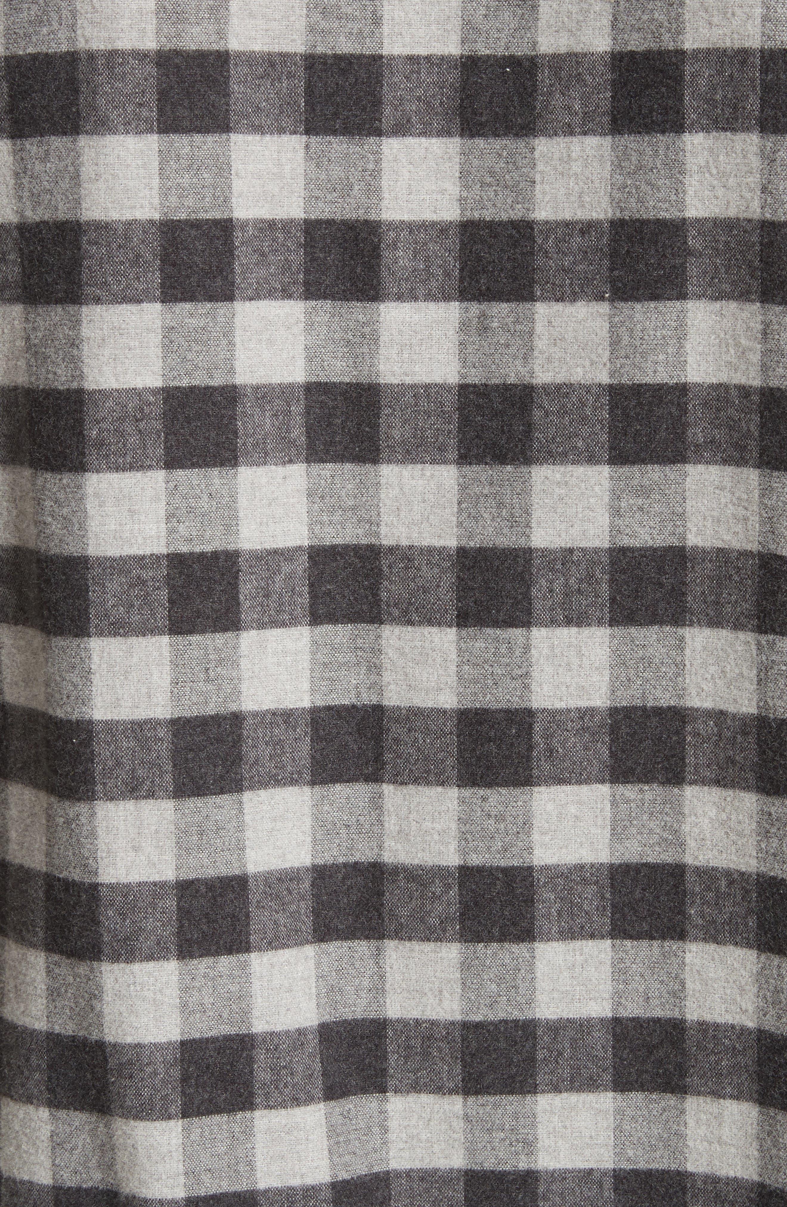Buffalo Check Flannel Sport Shirt,                             Alternate thumbnail 5, color,                             001