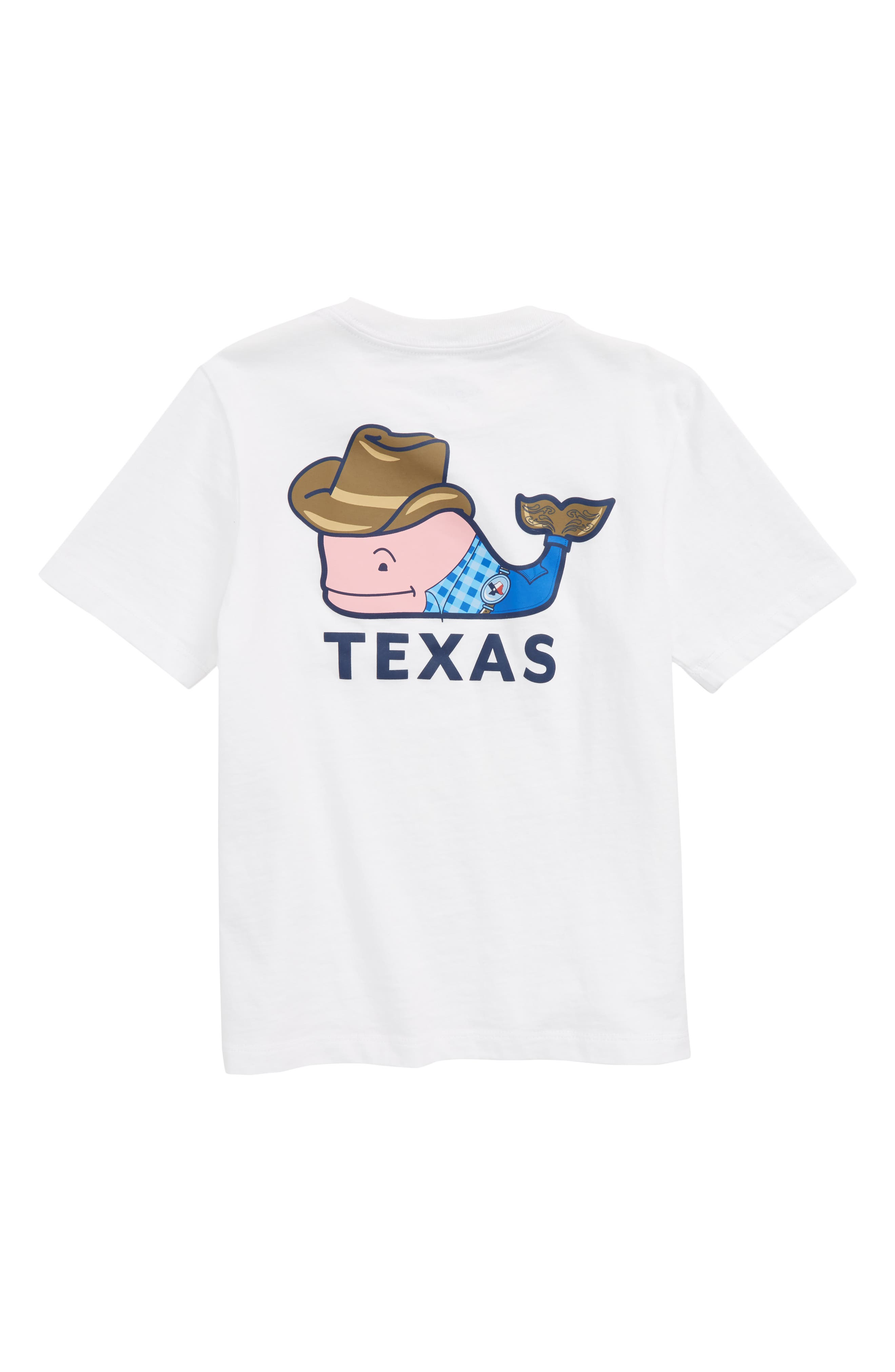 Texas Whale Pocket T-Shirt,                             Alternate thumbnail 2, color,                             WHITE CAP