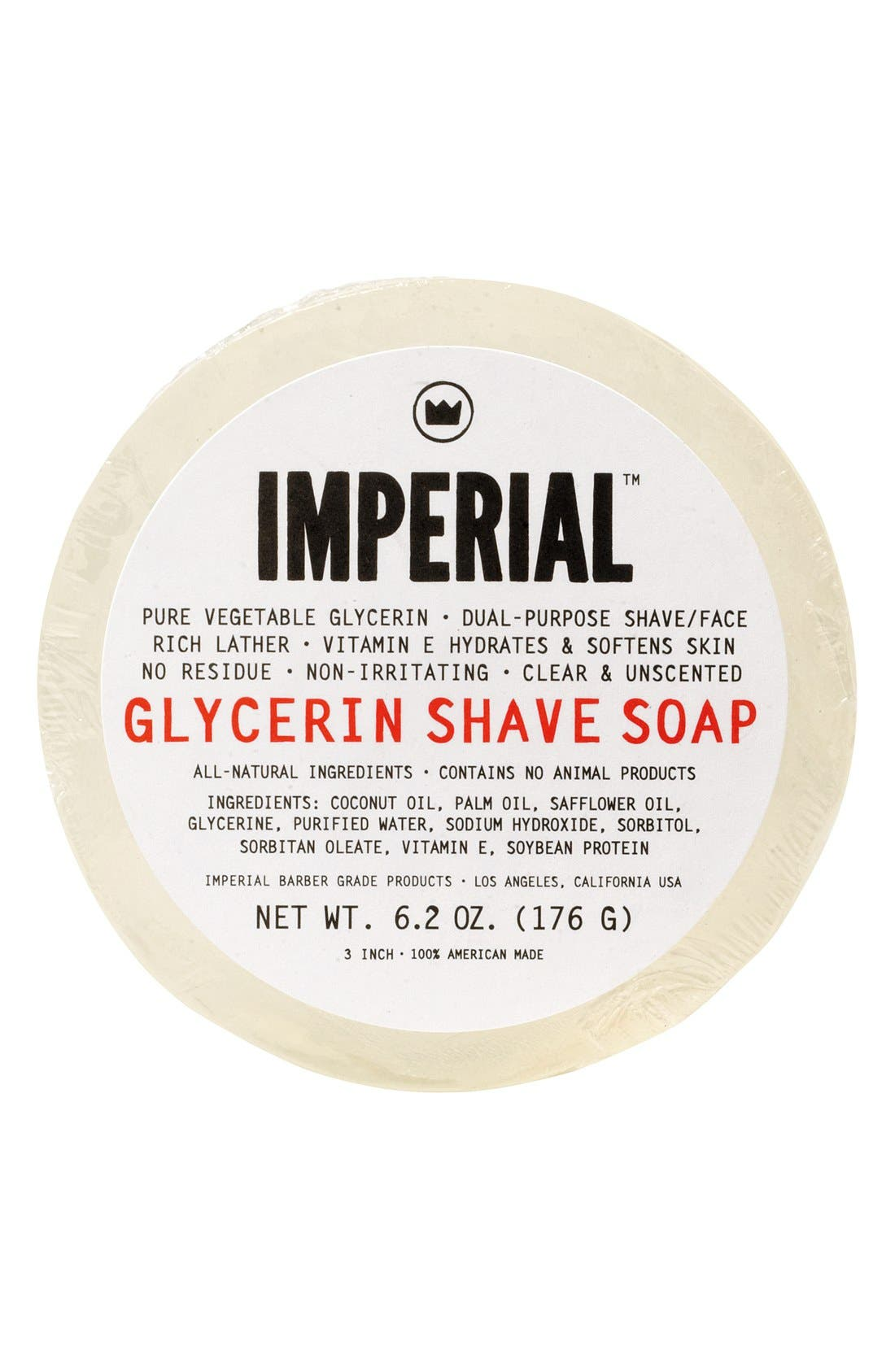 Glycerin Shave & Face Soap Puck,                             Main thumbnail 1, color,                             000