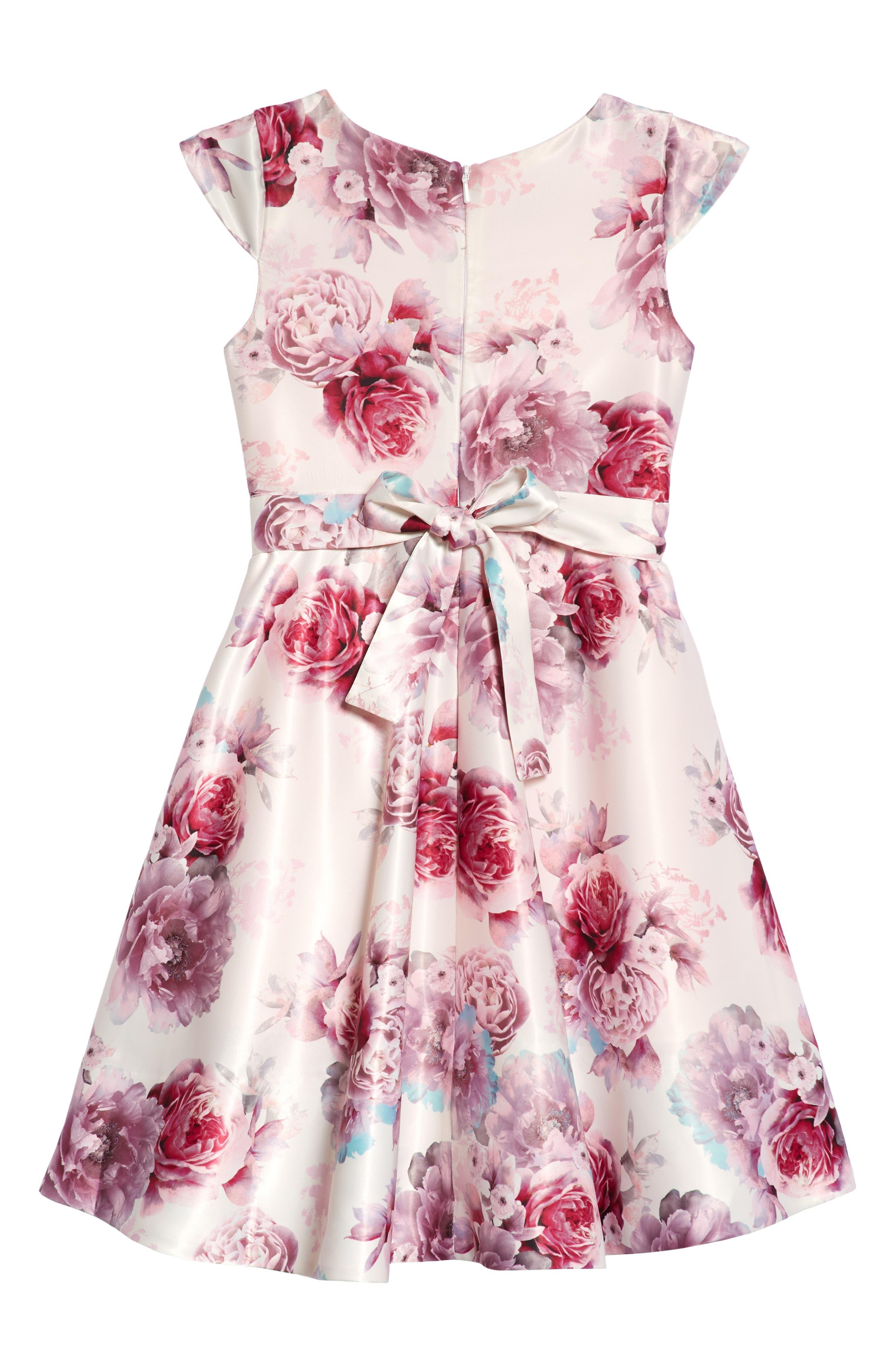 Ana Embellished Floral Dress,                             Alternate thumbnail 2, color,                             600