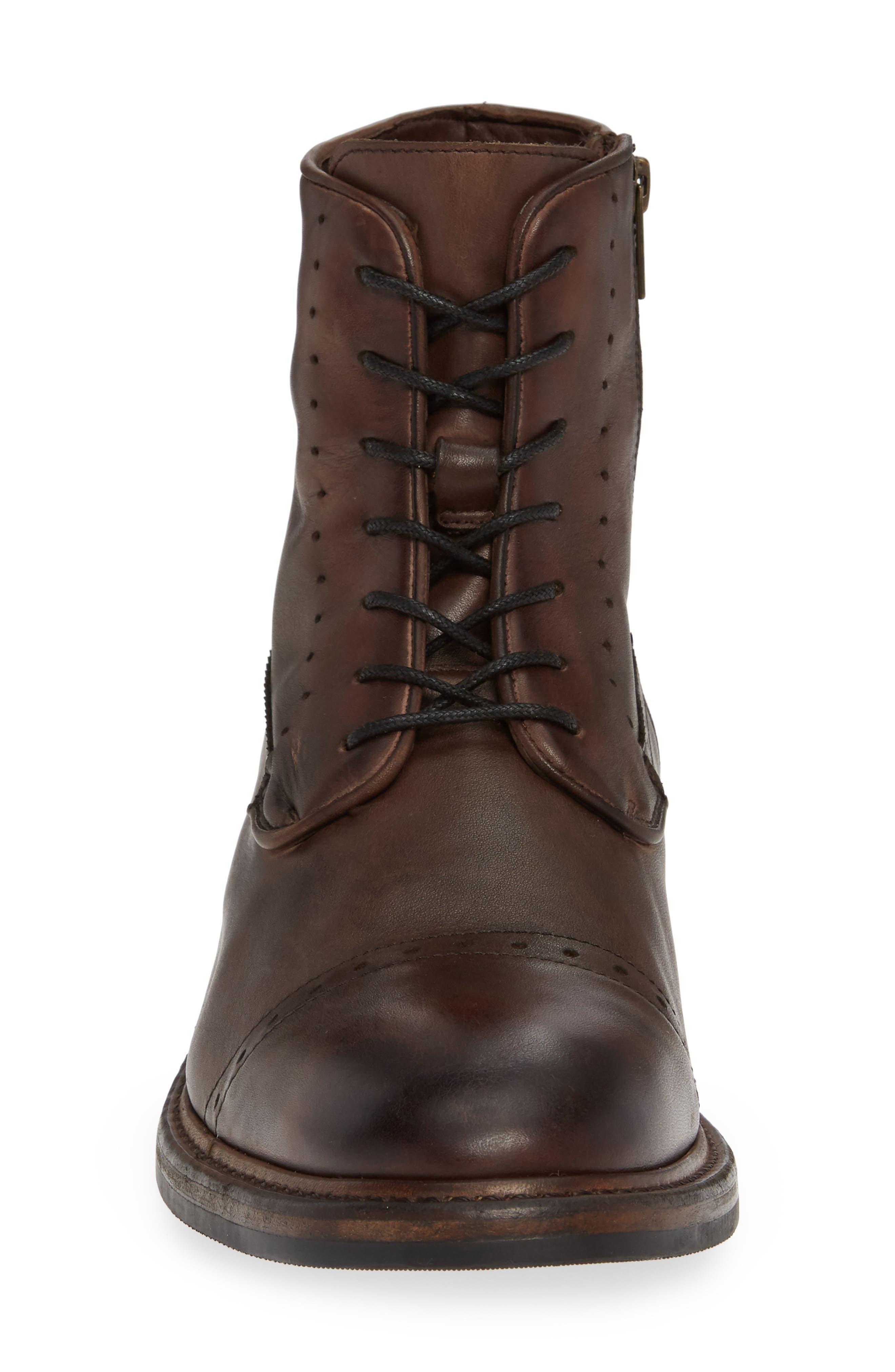 Murray Cap Toe Boot,                             Alternate thumbnail 4, color,                             BROWN