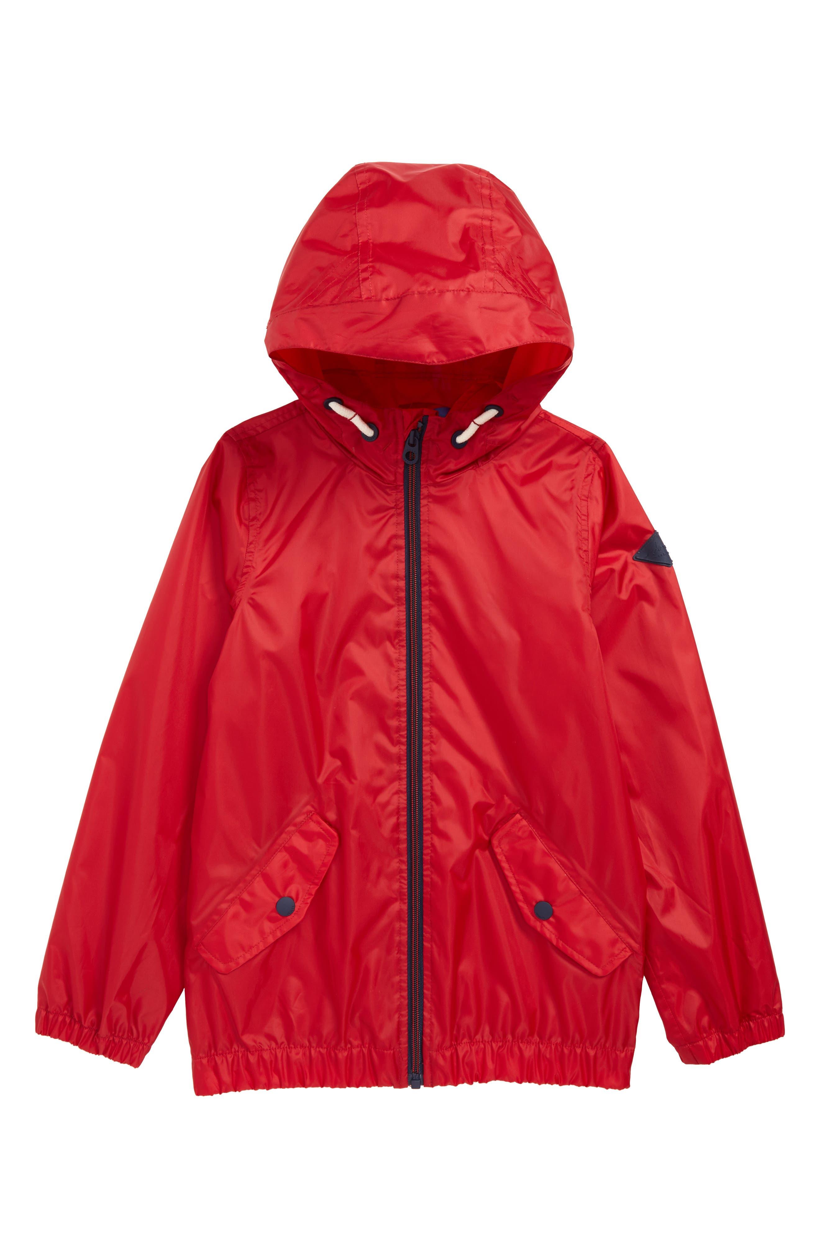 Boys Joules Rowan Lightweight Raincoat Size 6Y  Red