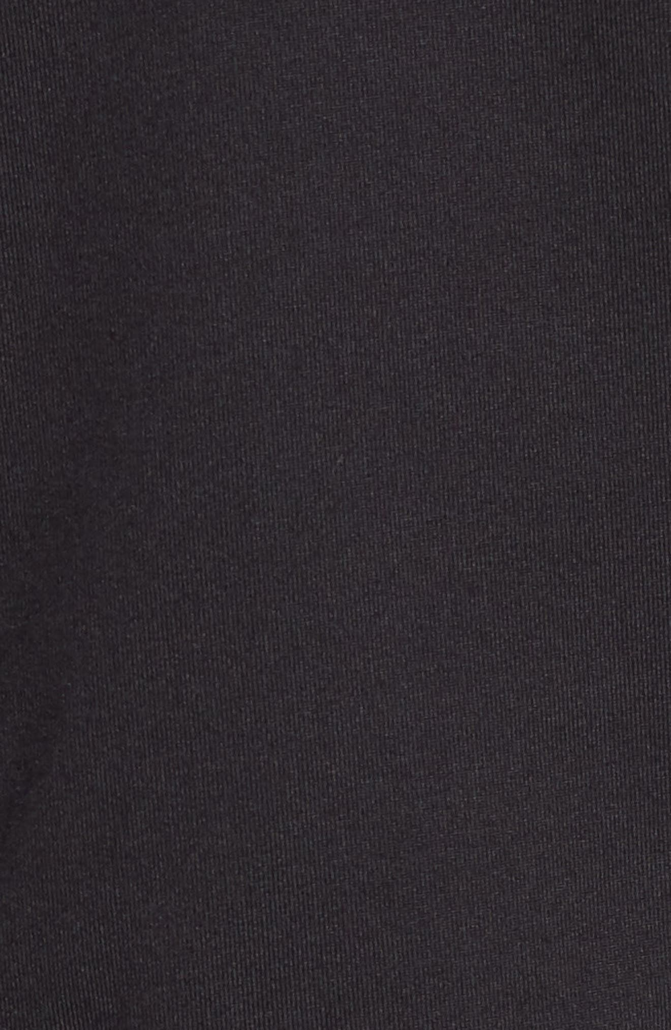 Trim Fit Quarter Zip Golf Pullover,                             Alternate thumbnail 5, color,                             001