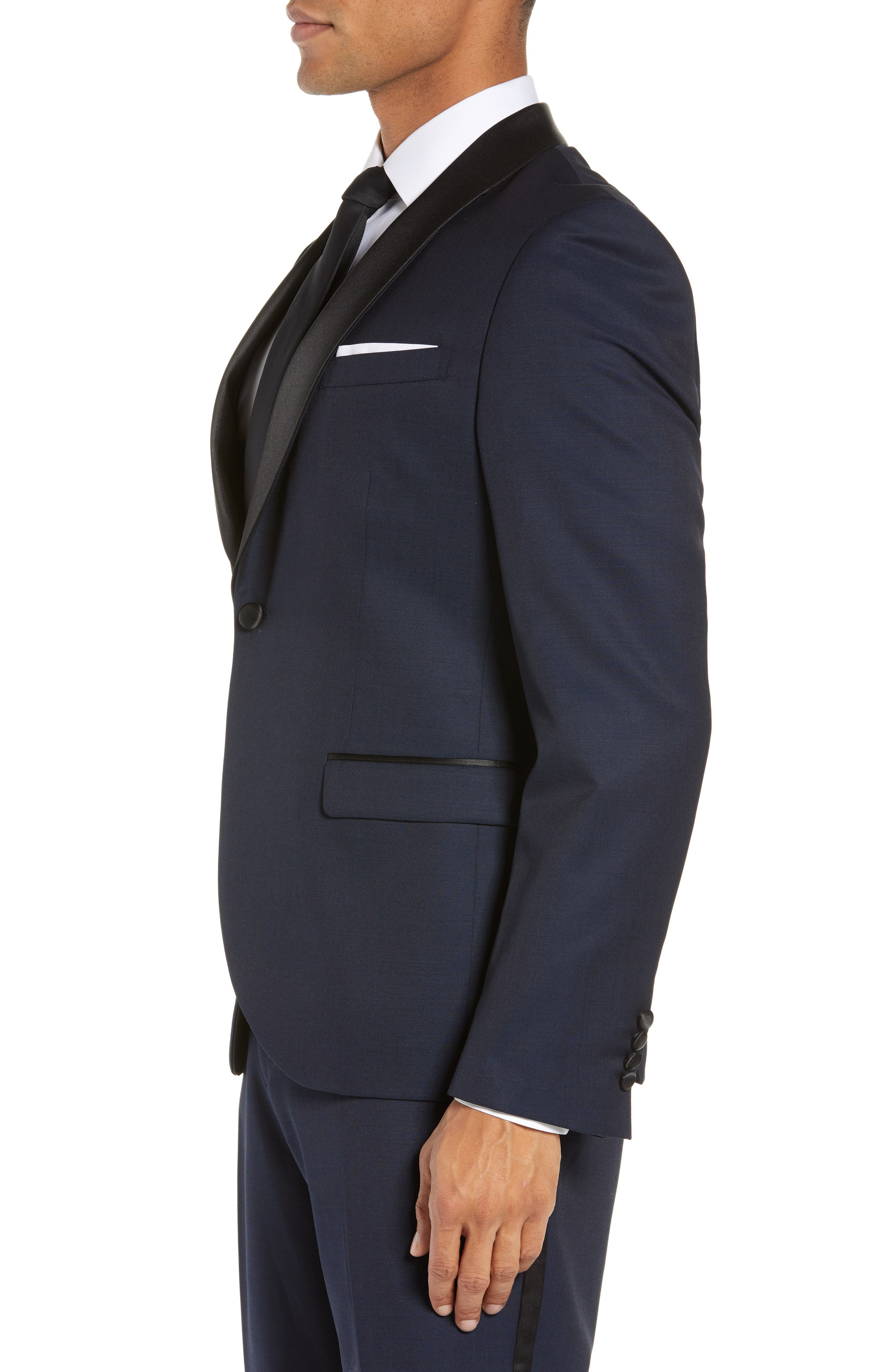 CALIBRATE,                             Extra Trim Fit Shawl Dinner Jacket,                             Alternate thumbnail 3, color,                             HIGH BLUE