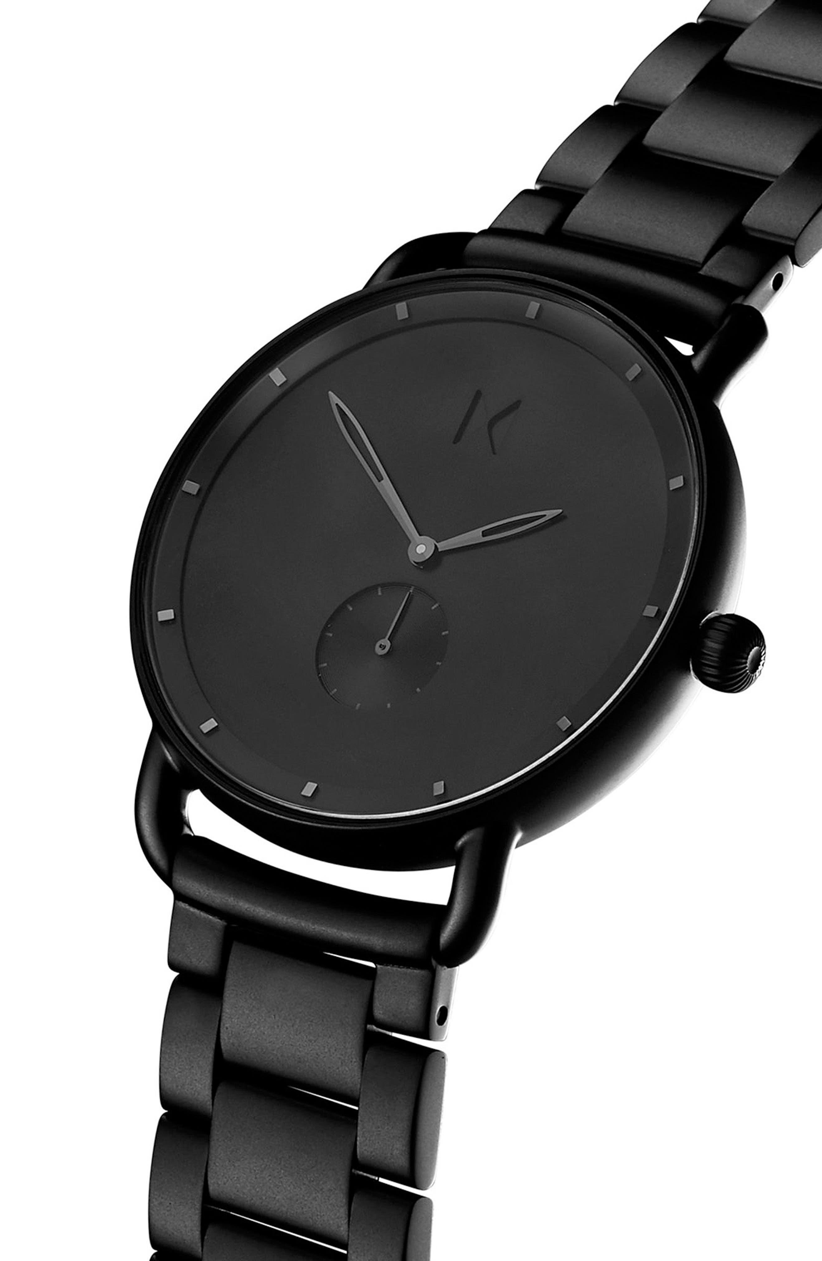 Revolver Avalon Bracelet Watch, 41mm,                             Alternate thumbnail 3, color,                             BLACK/ BLACK