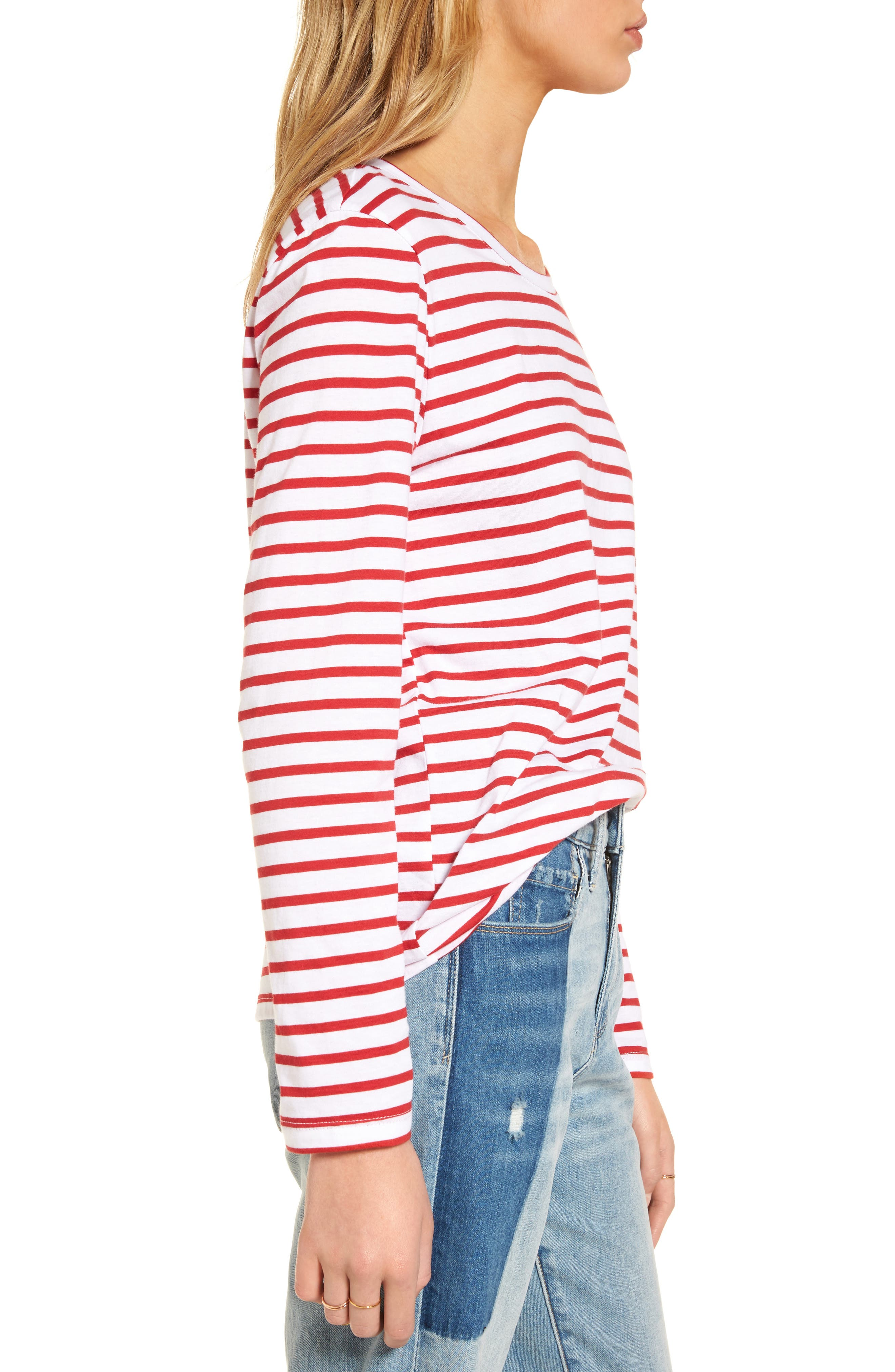 Varsity Stripe Cotton Tee,                             Alternate thumbnail 47, color,