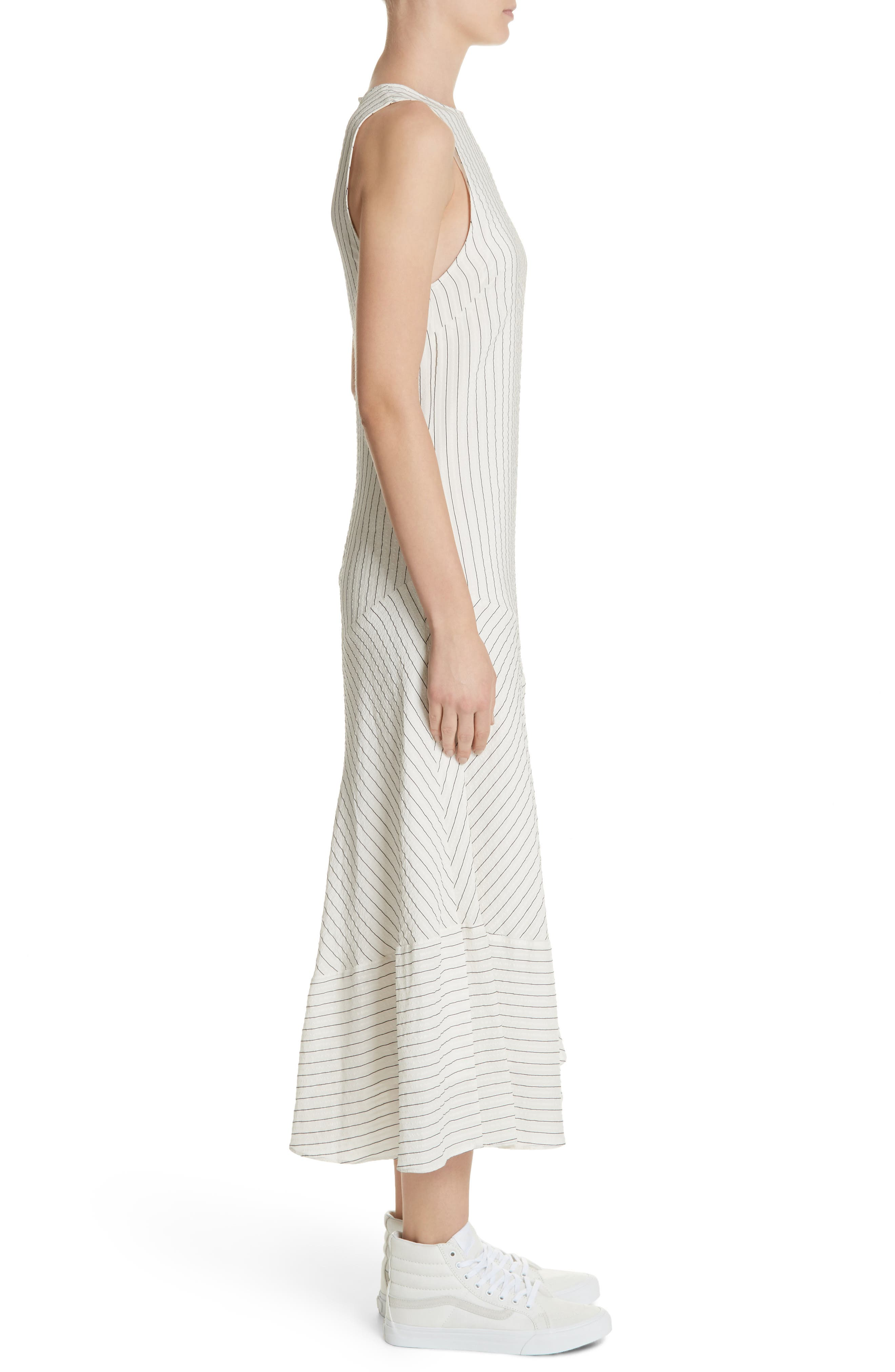 Wilkie Seersucker Striped Sheath Dress,                             Alternate thumbnail 3, color,                             900