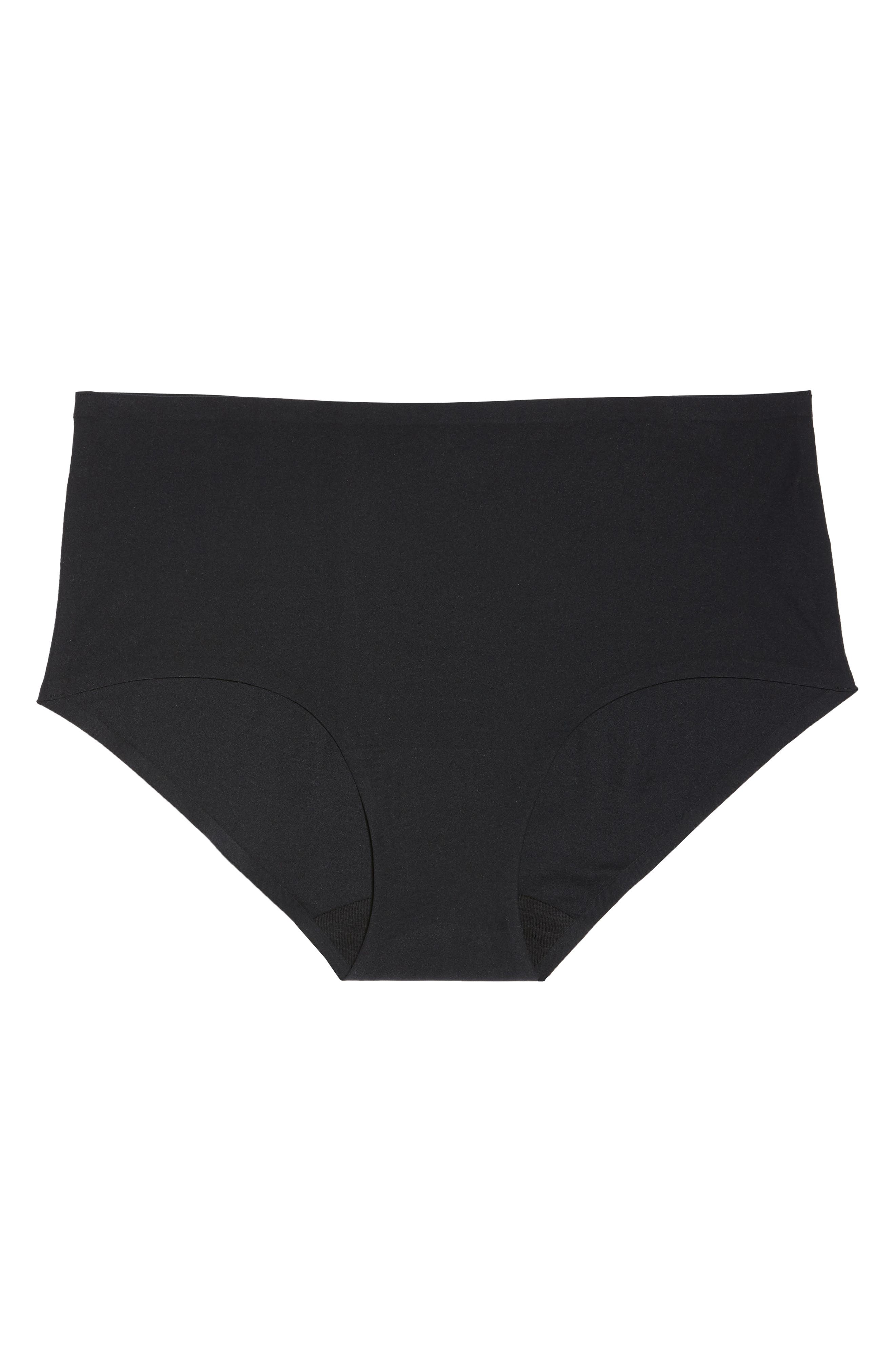 Soft Stretch Seamless Hipster Panties,                             Alternate thumbnail 6, color,                             BLACK