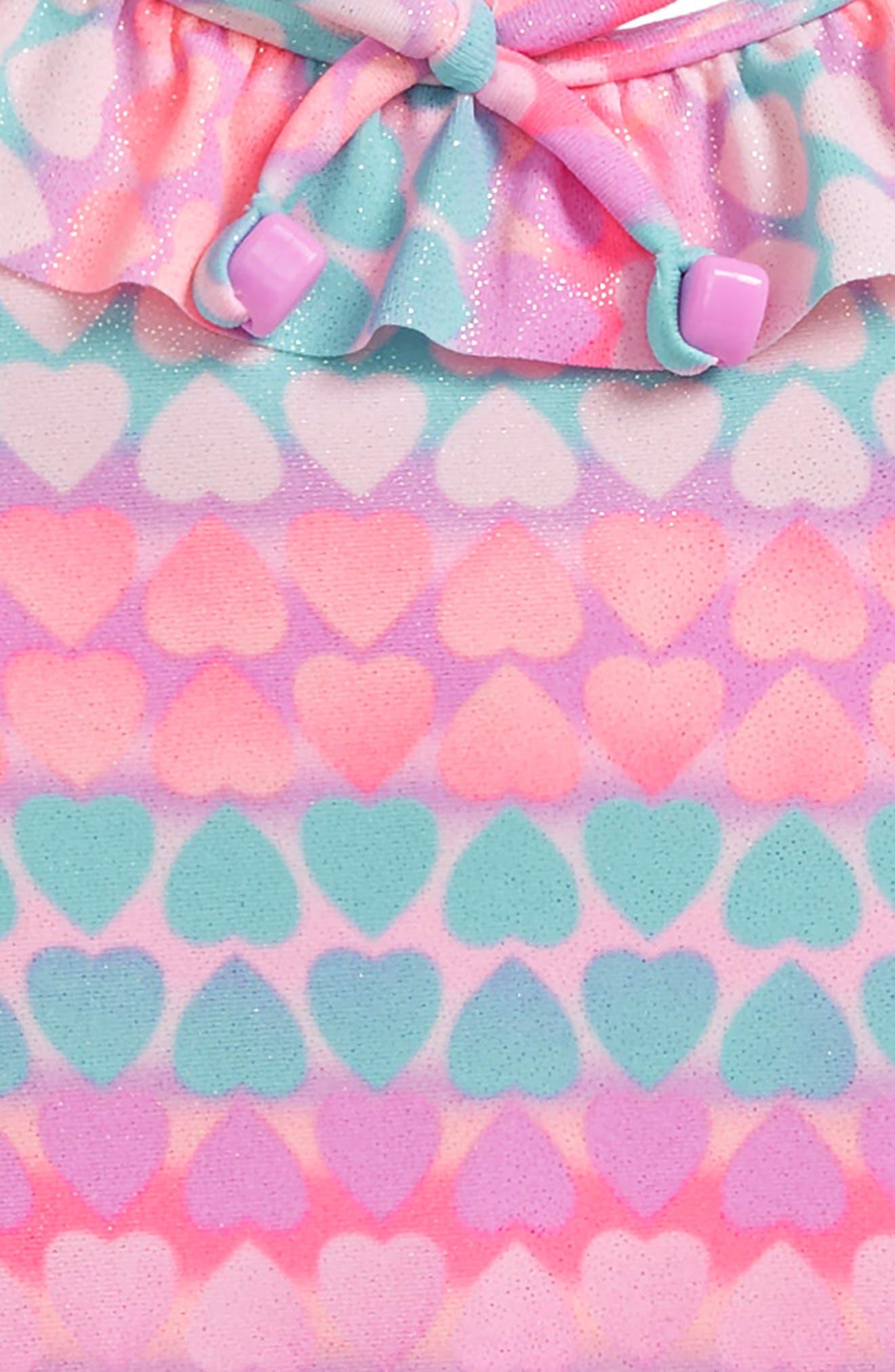 Hearts Galore One-Piece Swimsuit,                             Alternate thumbnail 3, color,                             508