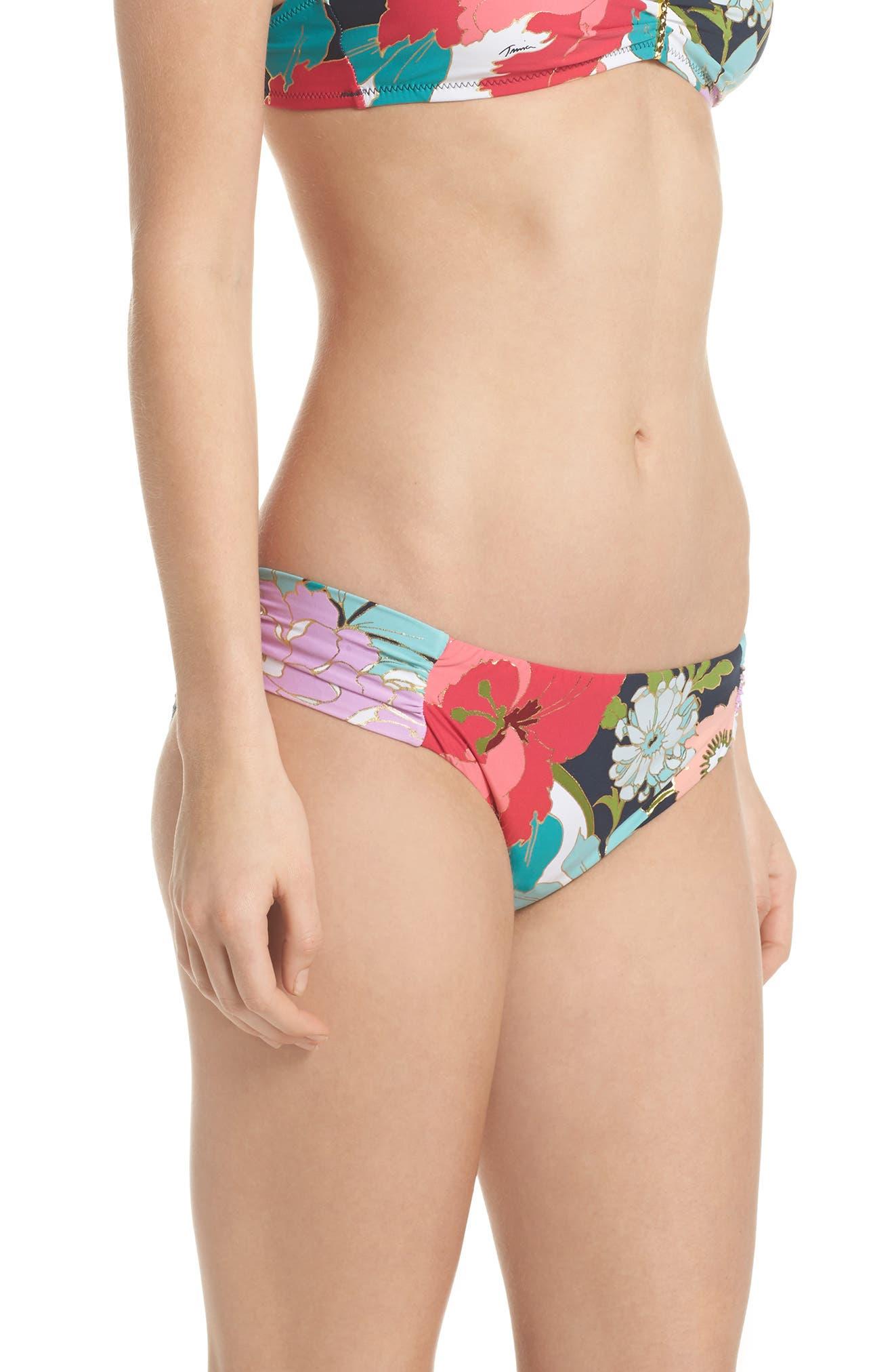 TRINA TURK,                             Royal Botanical Bikini Bottoms,                             Alternate thumbnail 3, color,                             400