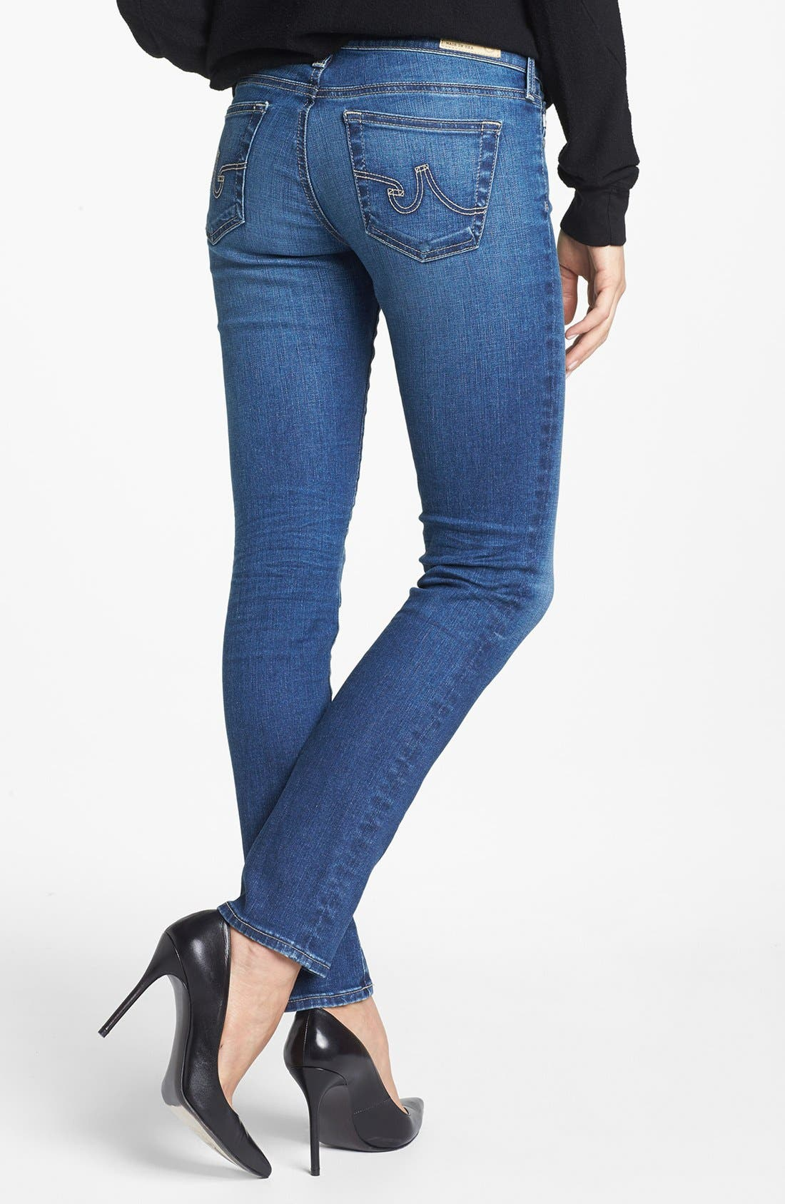 The Stilt Cigarette Leg Jeans,                             Alternate thumbnail 7, color,                             401