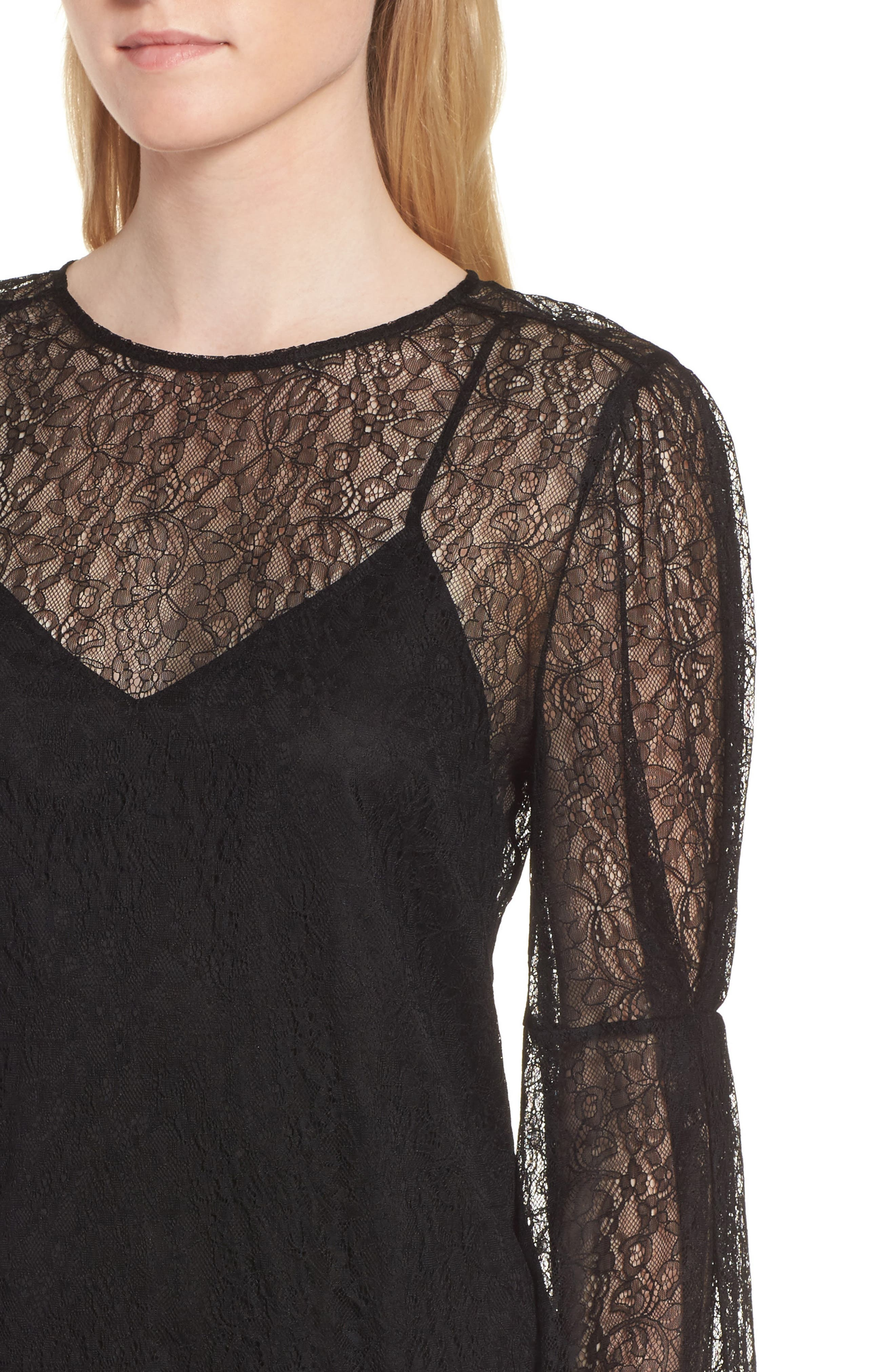 Lace Dress,                             Alternate thumbnail 4, color,                             001