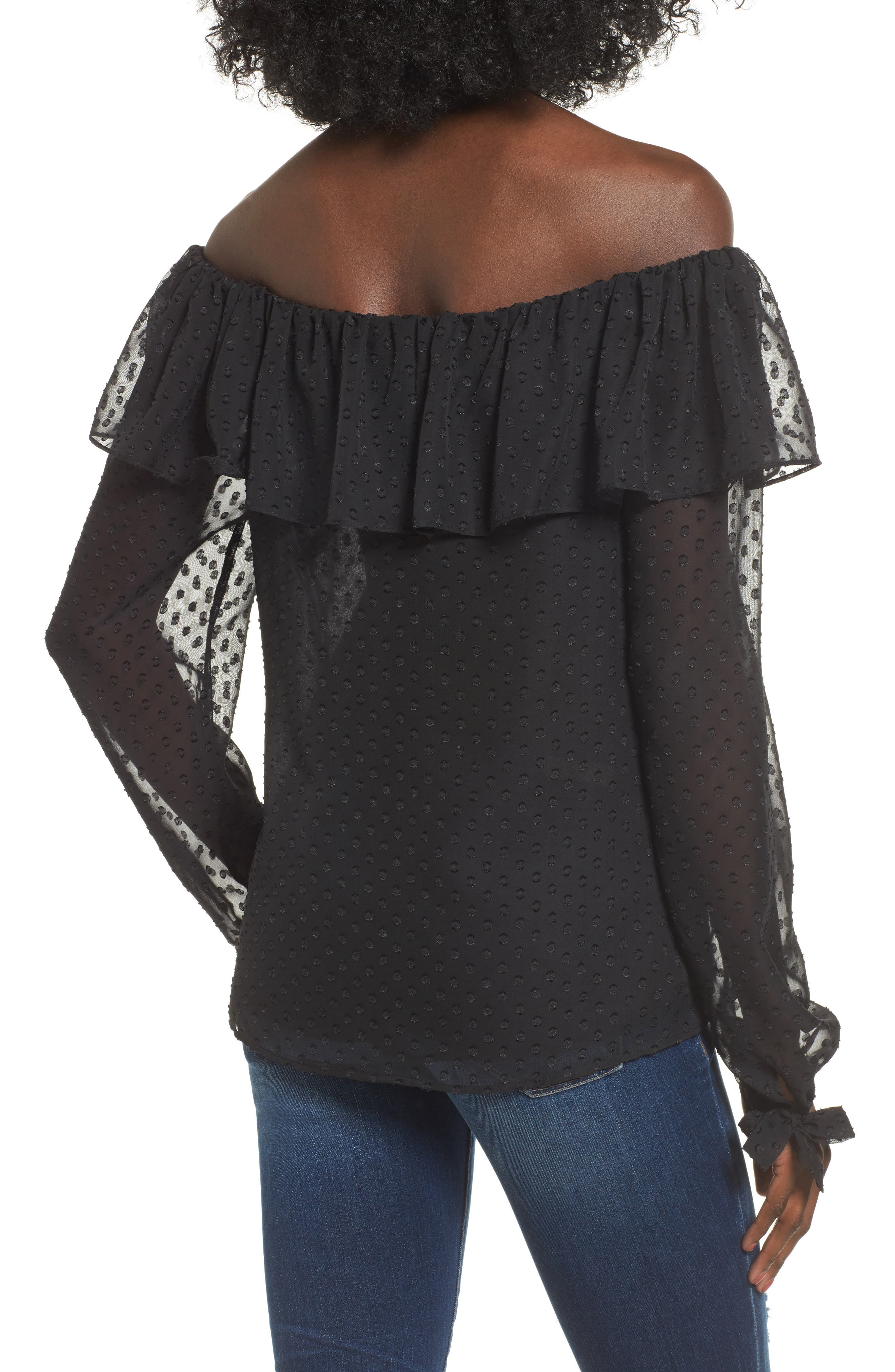 Kiere Ruffle Off the Shoulder Top,                             Alternate thumbnail 2, color,                             001