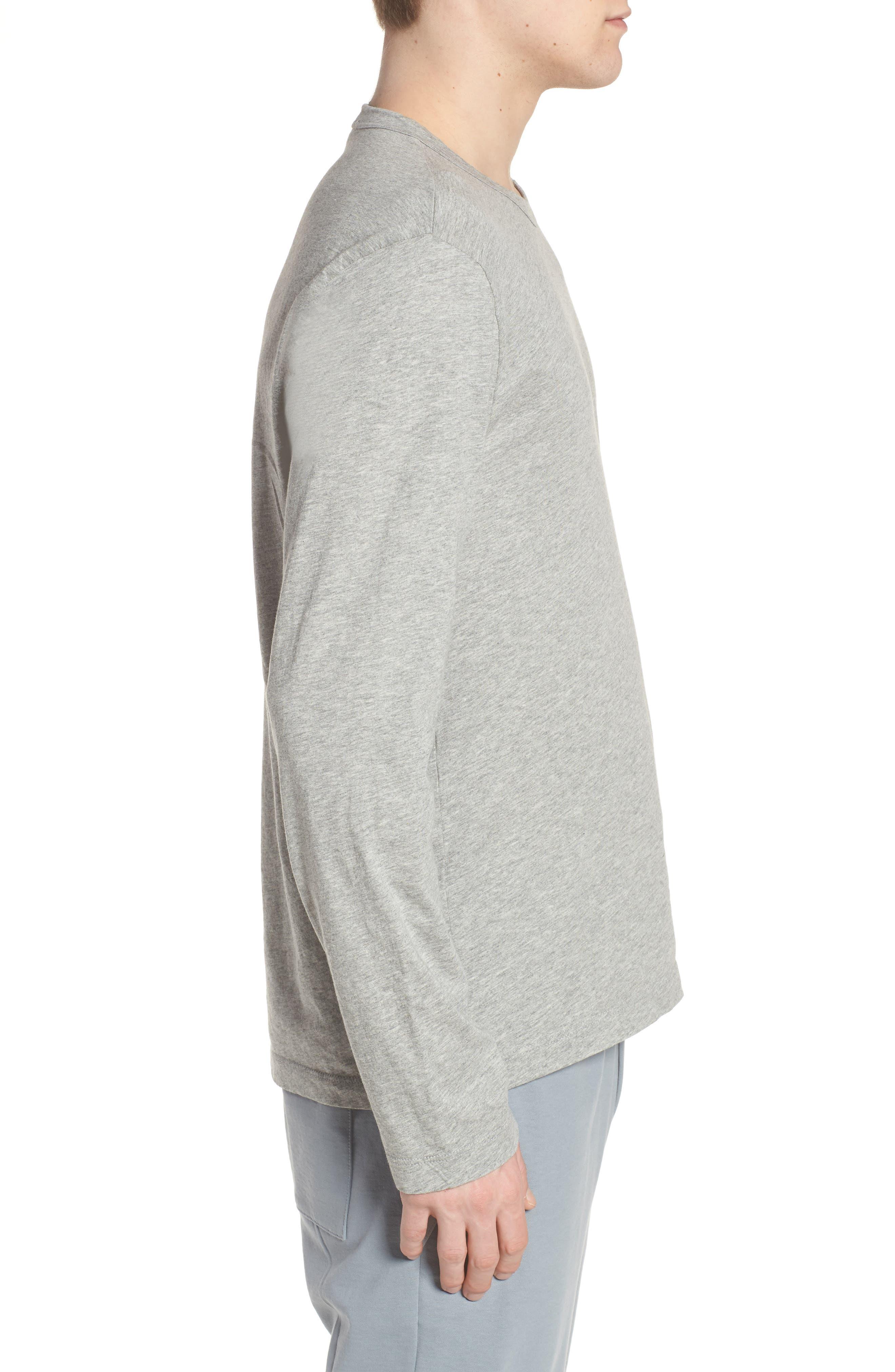 Crewneck Cotton Sweatshirt,                             Alternate thumbnail 3, color,