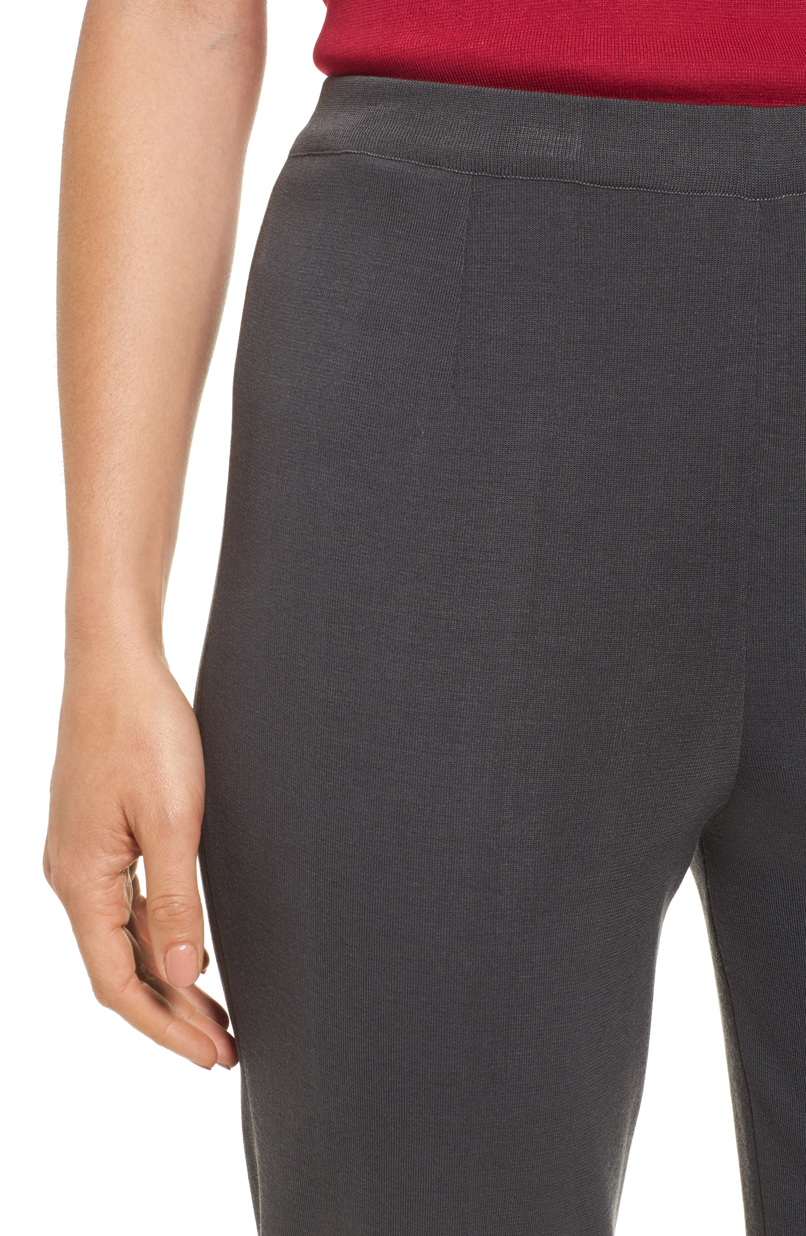 MING WANG,                             Pull-On Knit Pants,                             Alternate thumbnail 4, color,                             GRANITE