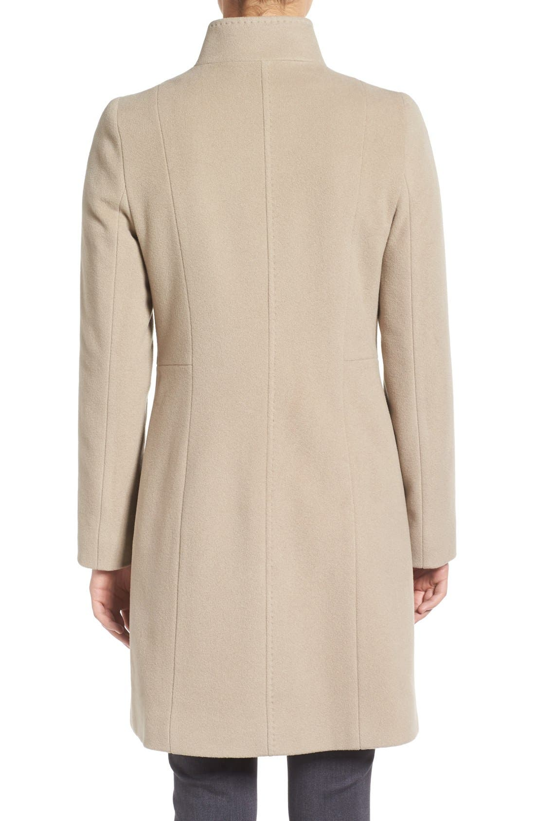 Cinzia Rocca Stand Collar Walking Coat,                             Alternate thumbnail 4, color,