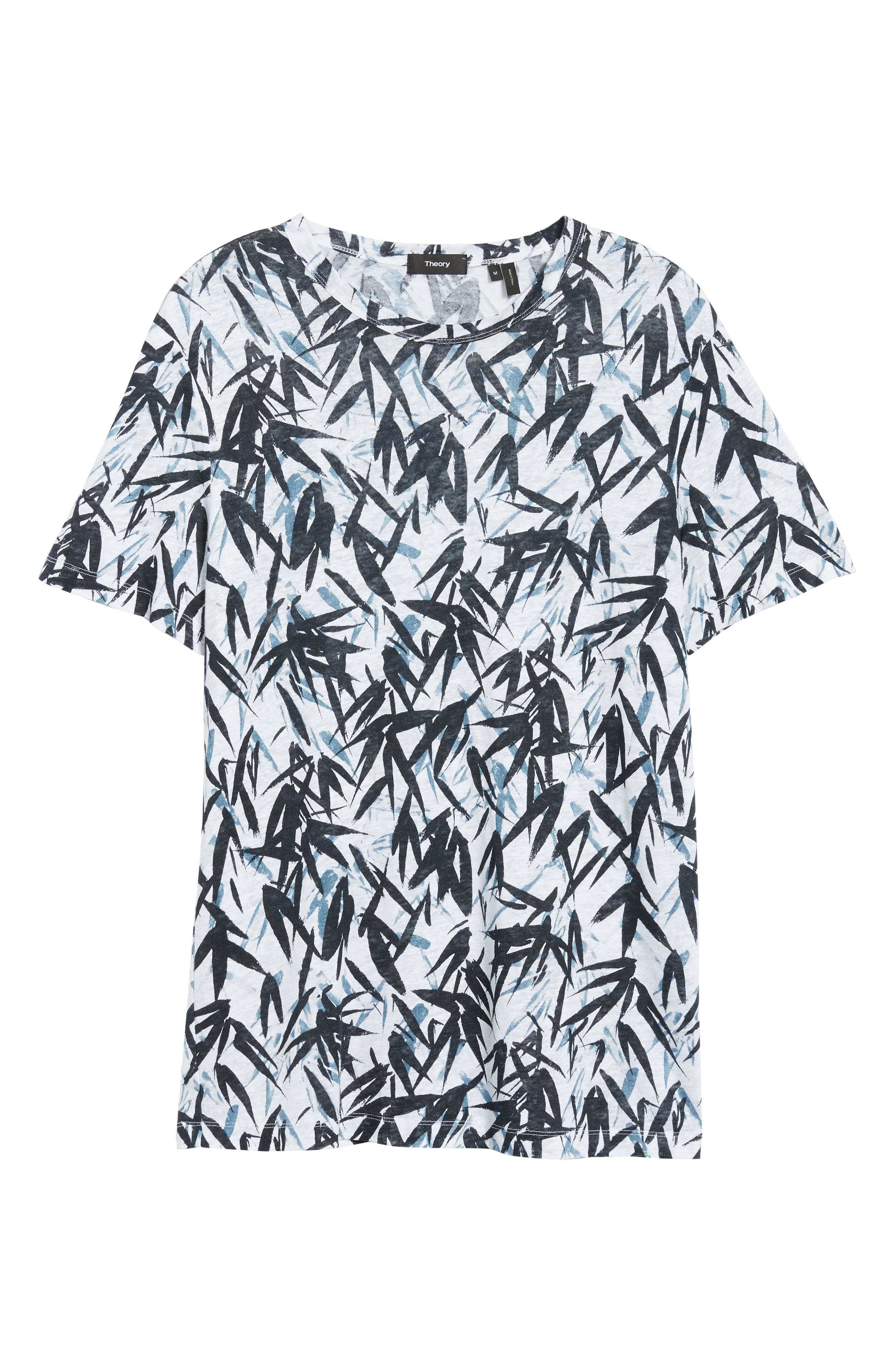Essential Pinal Linen T-Shirt,                             Alternate thumbnail 6, color,                             HYDRO MULTI
