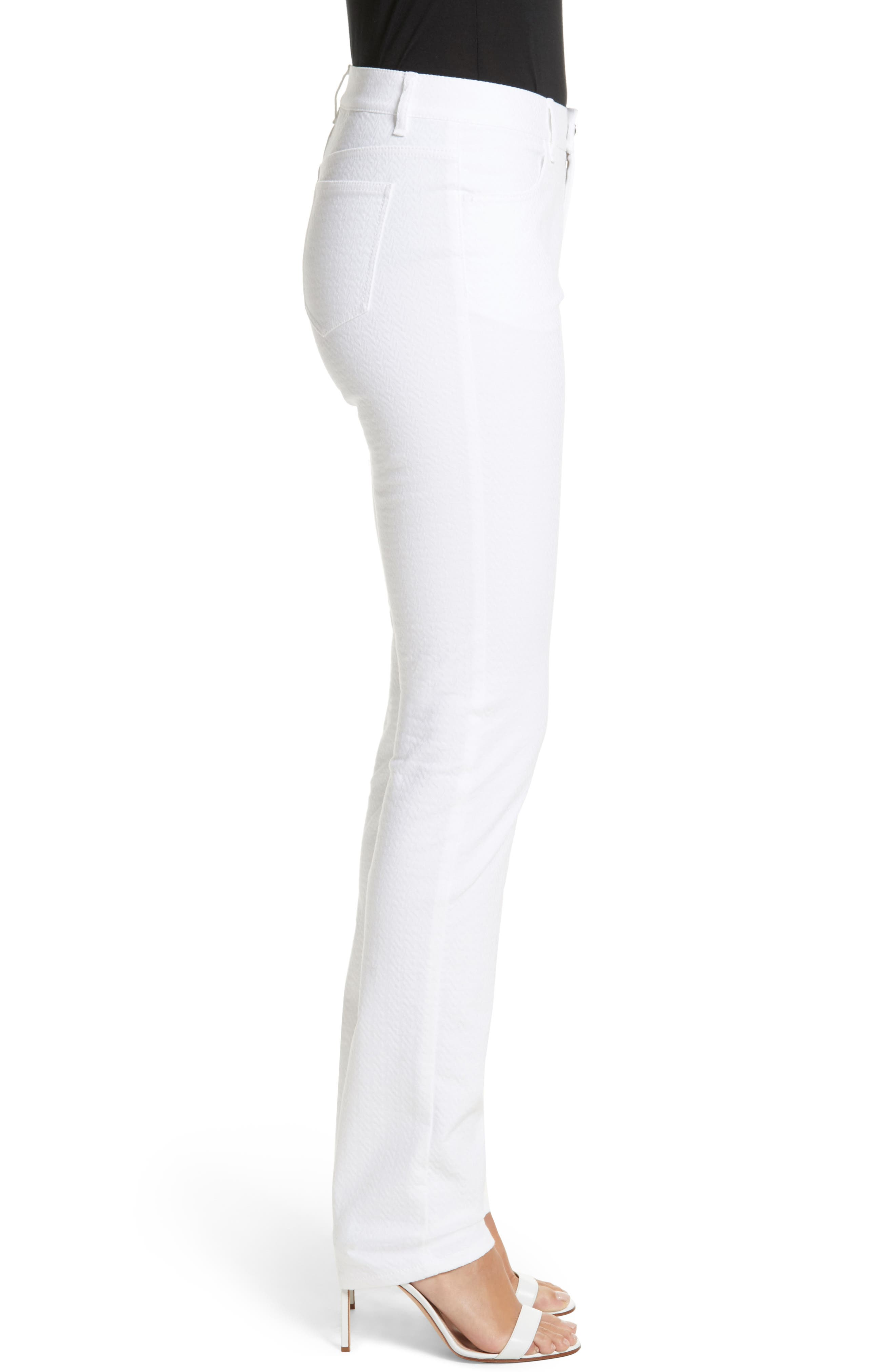 Thompson Straight Leg Jeans,                             Alternate thumbnail 3, color,                             WHITE