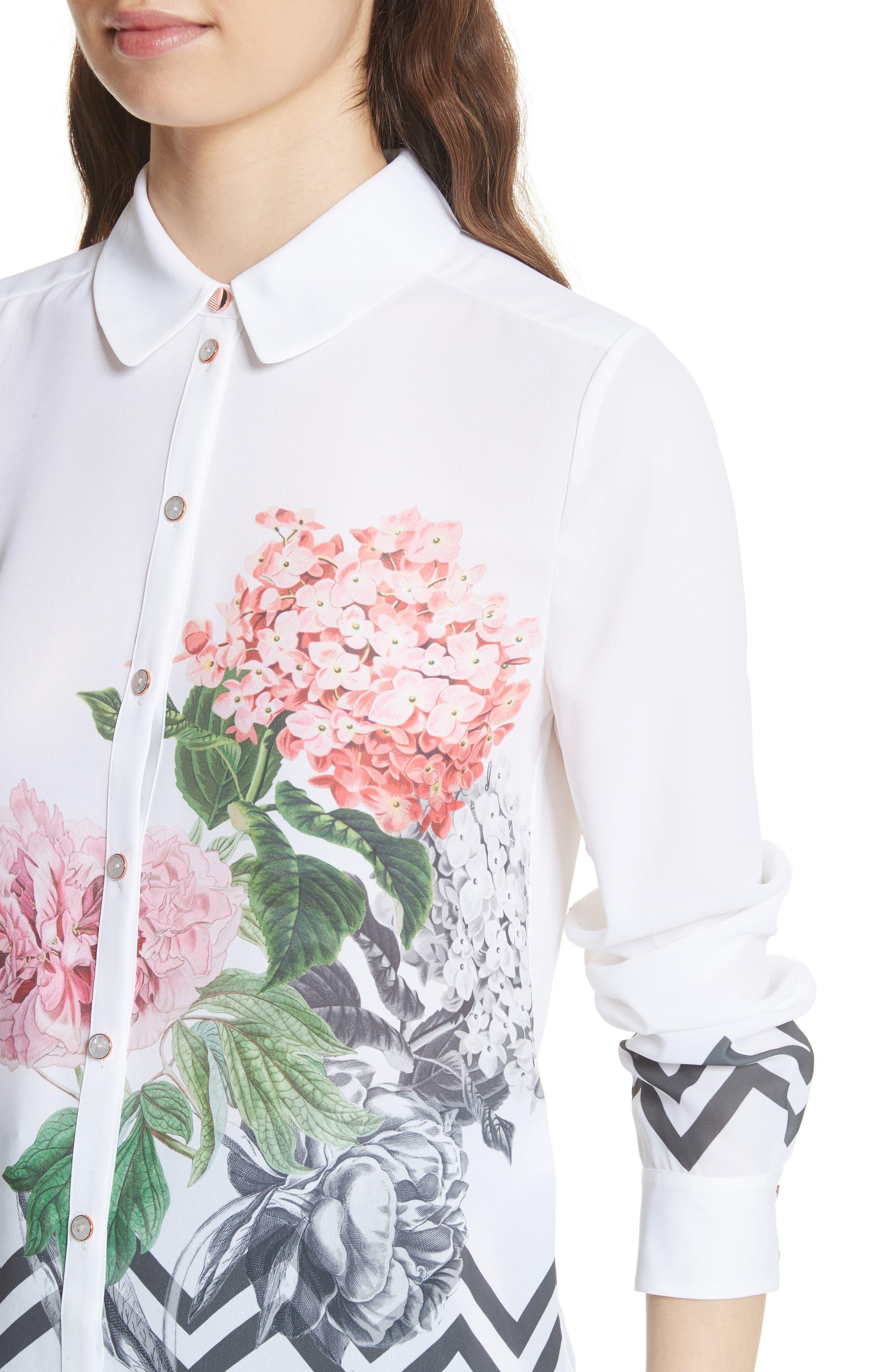 Palace Gardens Shirt,                             Alternate thumbnail 4, color,                             110
