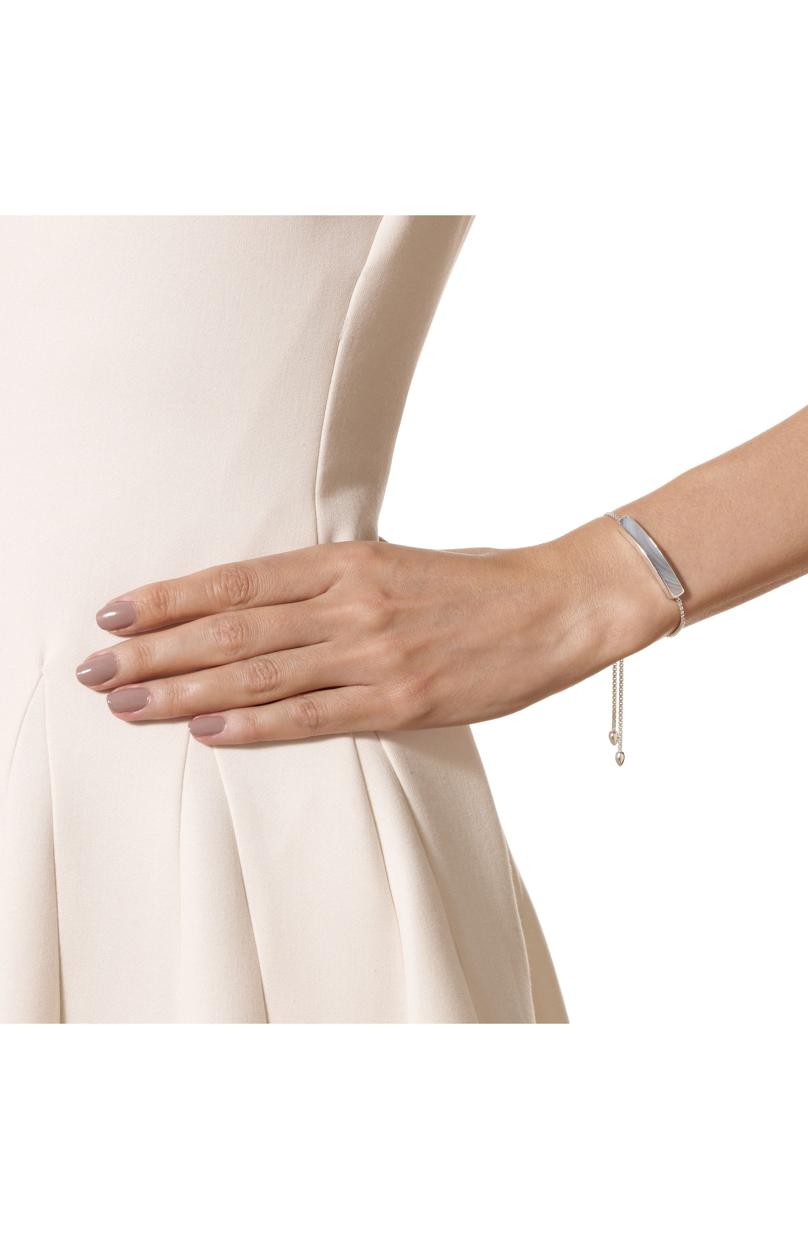 Baja Sterling Stone Bracelet,                             Alternate thumbnail 2, color,                             GREY AGATE/ SILVER