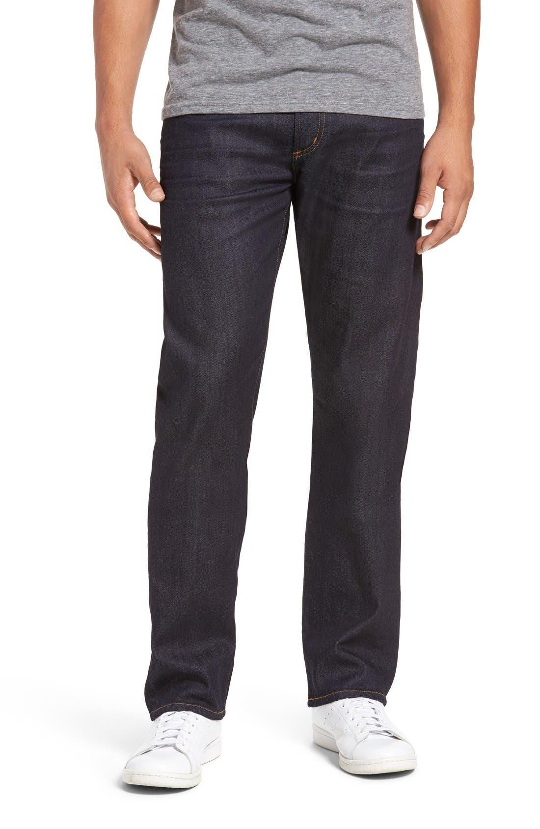 Core Slim Straight Leg Jeans,                             Main thumbnail 1, color,